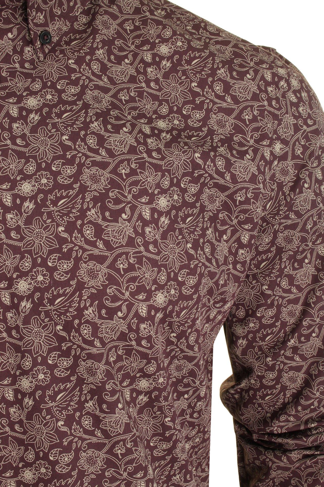Mens-Ben-Sherman-Long-Sleeved-Shirt-Baroque-Floral thumbnail 3