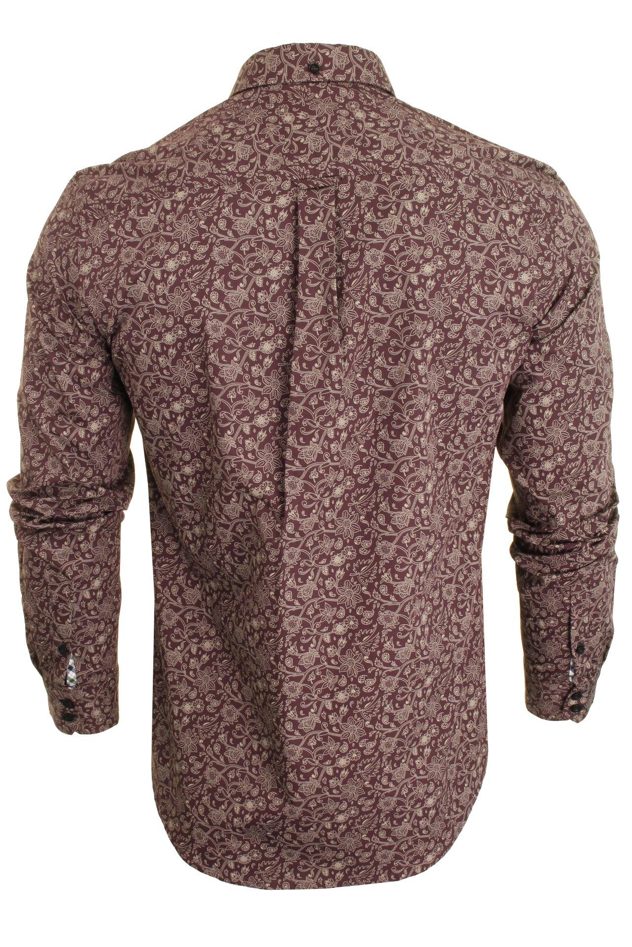 Mens-Ben-Sherman-Long-Sleeved-Shirt-Baroque-Floral thumbnail 4