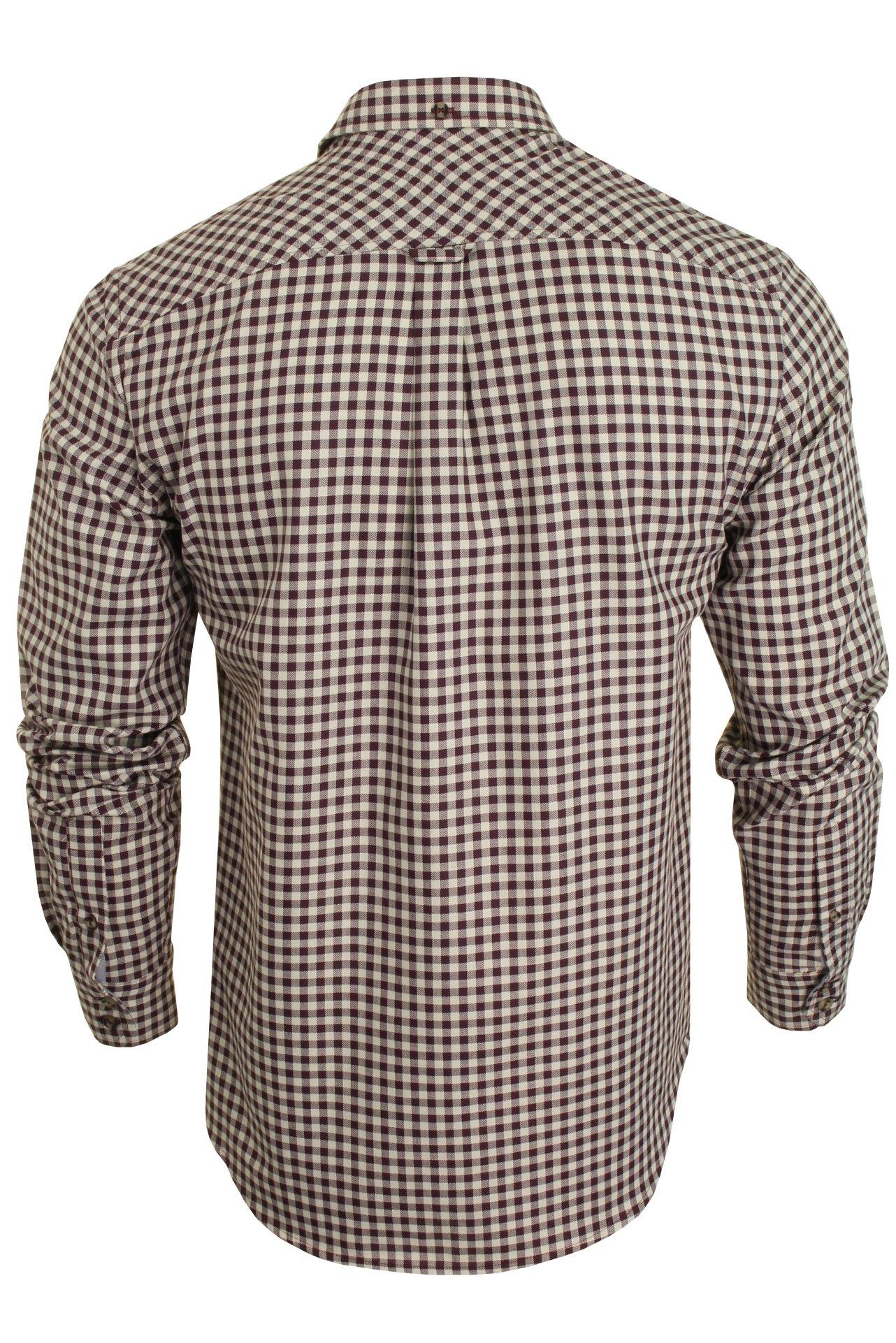 Mens-Ben-Sherman-Long-Sleeved-Shirt-Brushed-Gingham-Check thumbnail 8