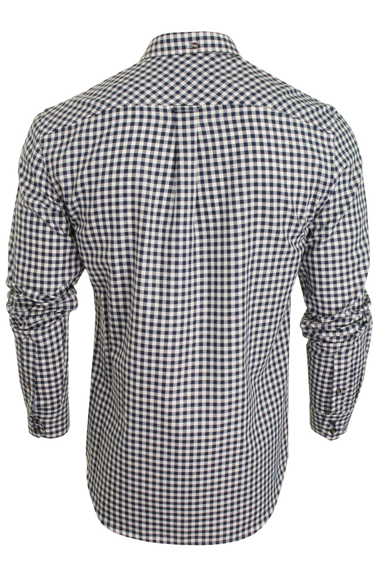 Mens-Ben-Sherman-Long-Sleeved-Shirt-Brushed-Gingham-Check thumbnail 5
