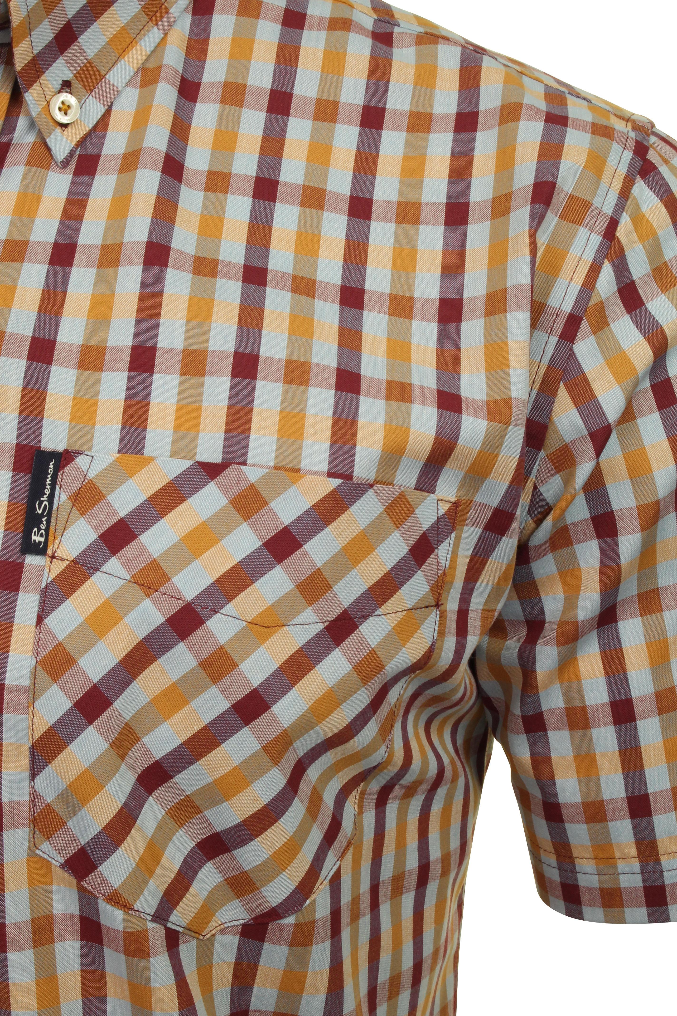 Ben-Sherman-Mens-Multicolour-Short-Sleeved-Check-Shirt thumbnail 4
