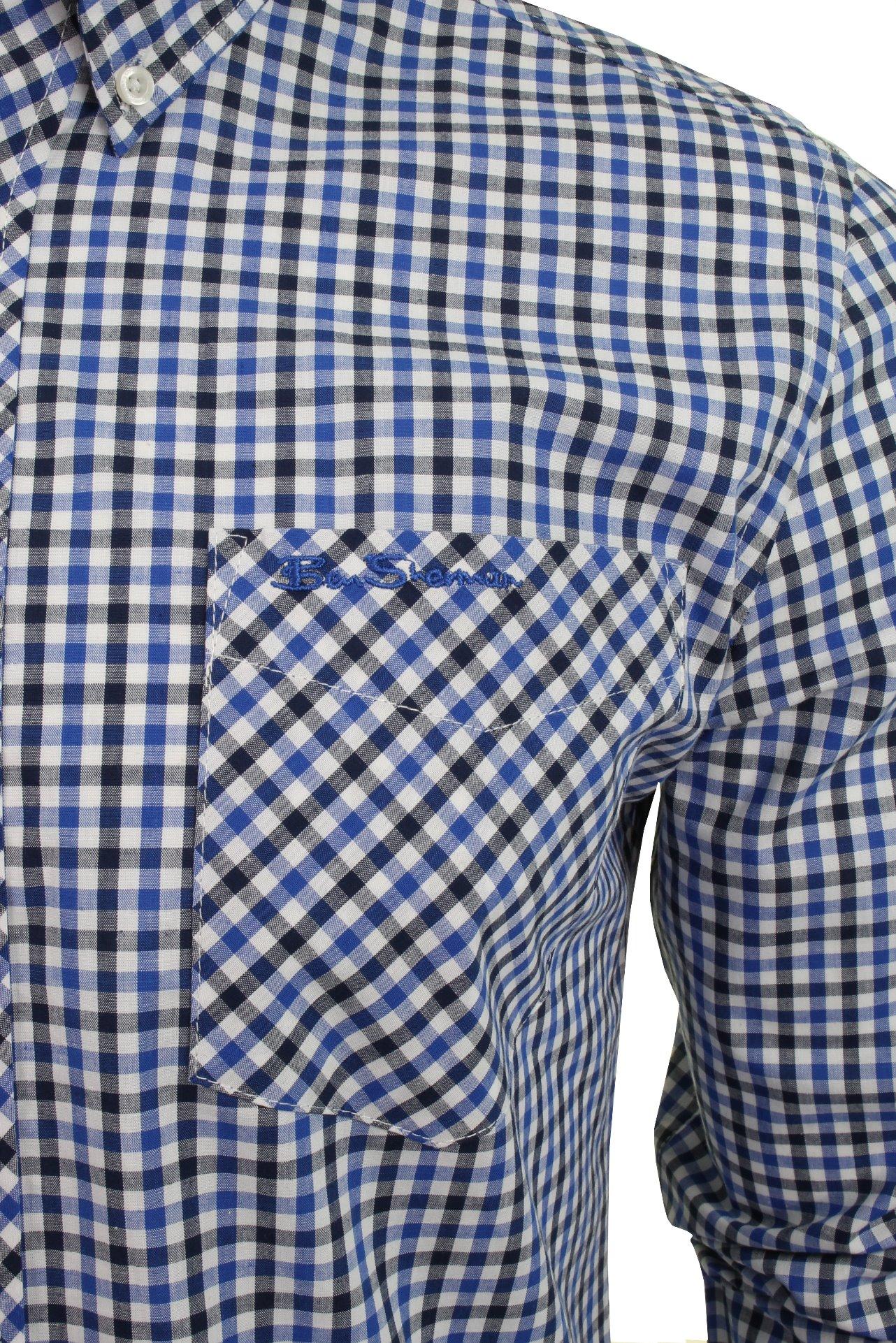 Ben-Sherman-Men-039-s-Long-Sleeved-Gingham-Check-Shirt miniatuur 4