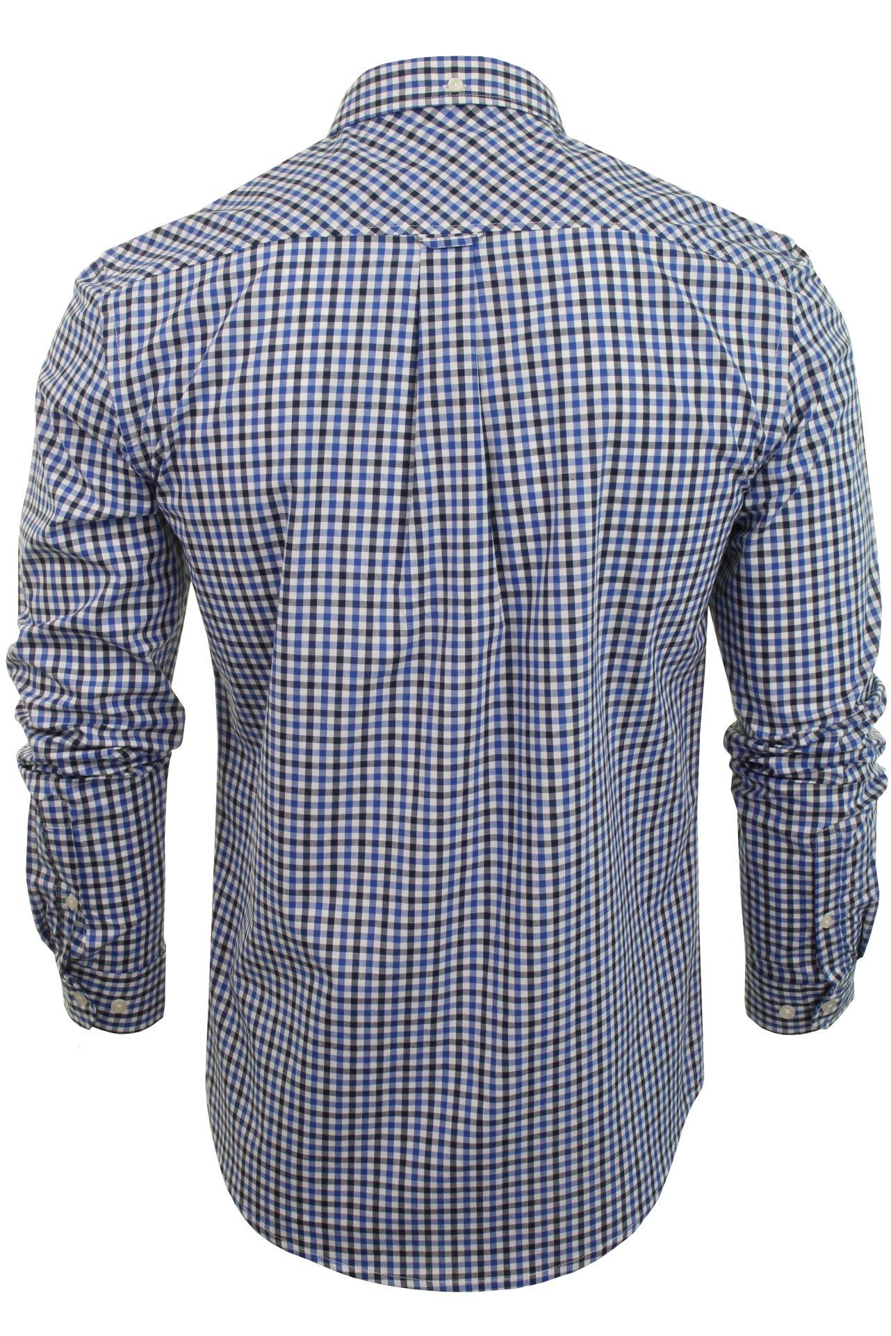 Ben-Sherman-Men-039-s-Long-Sleeved-Gingham-Check-Shirt miniatuur 5