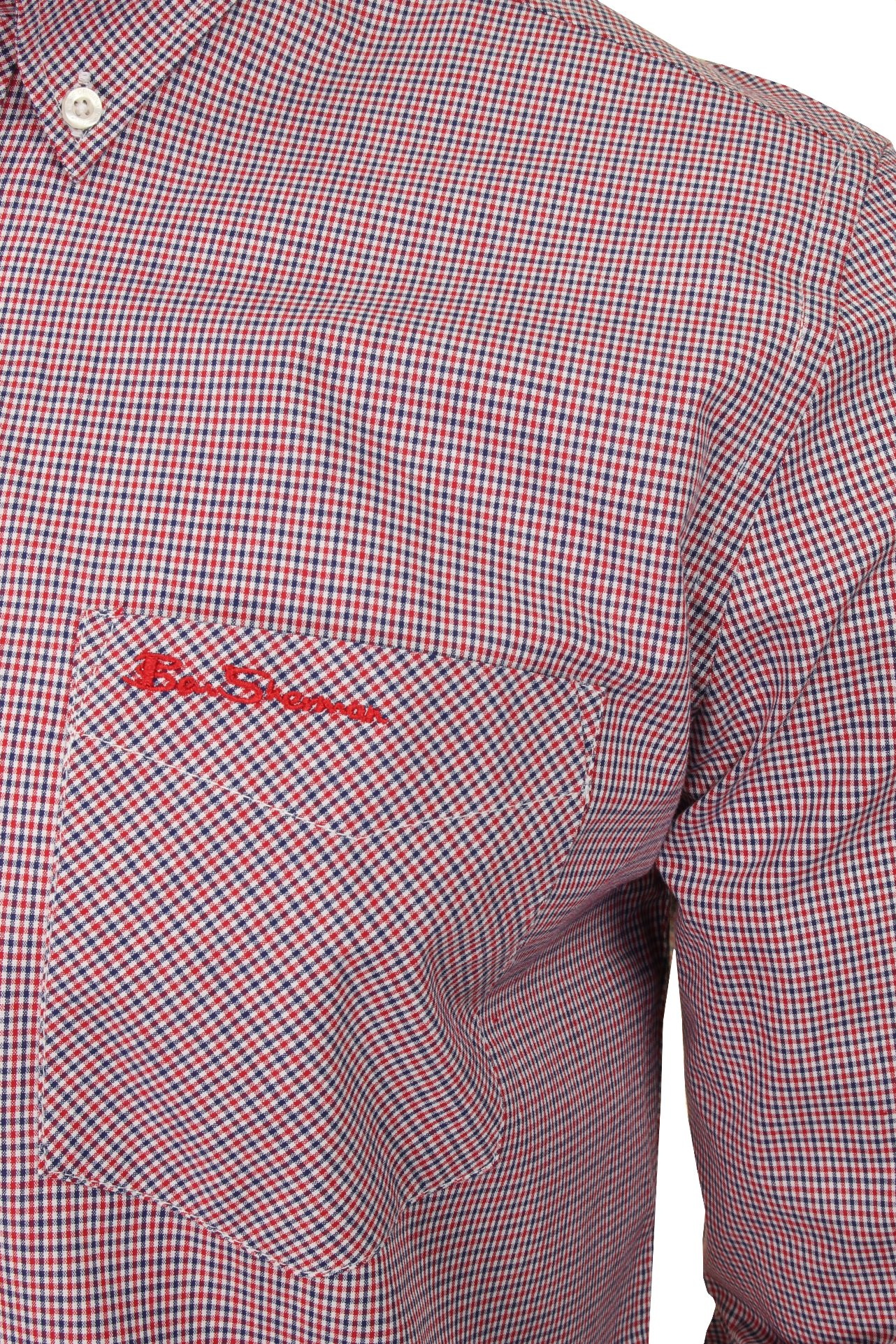 Ben-Sherman-Men-039-s-Long-Sleeved-Gingham-Check-Shirt miniatuur 7