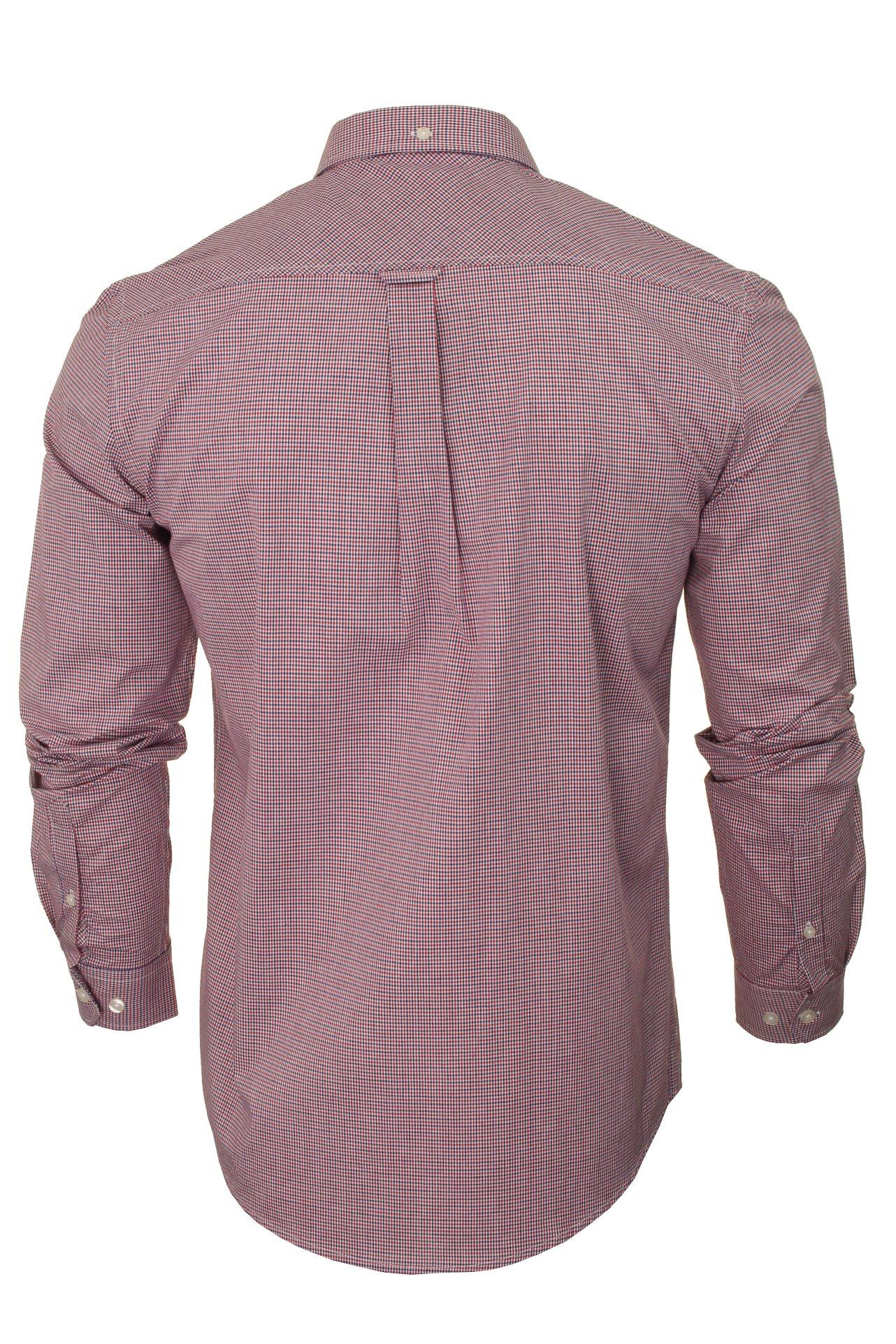 Ben-Sherman-Men-039-s-Long-Sleeved-Gingham-Check-Shirt miniatuur 8
