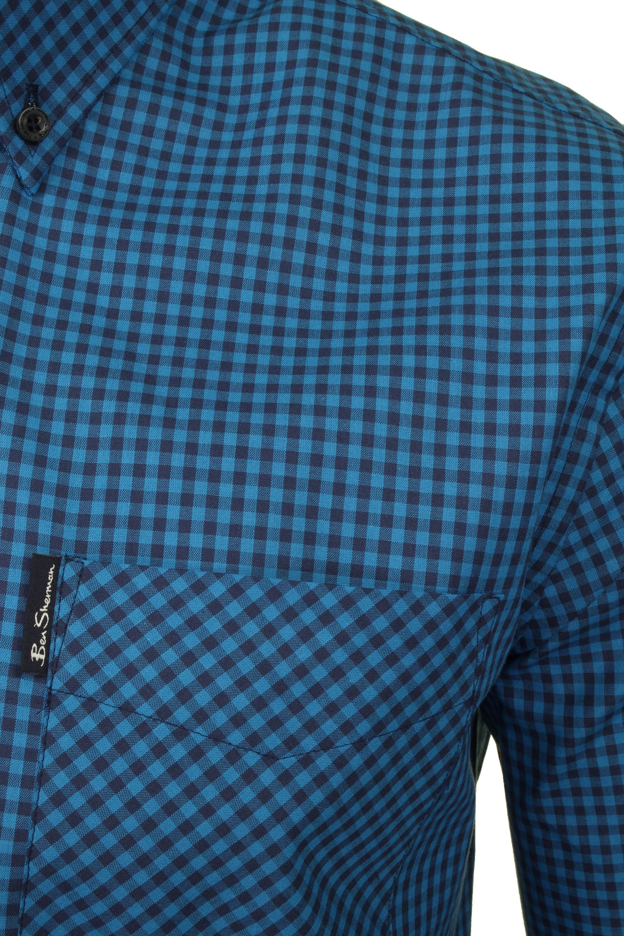 Ben-Sherman-Mens-Long-Sleeved-Gingham-Check-Shirt thumbnail 13