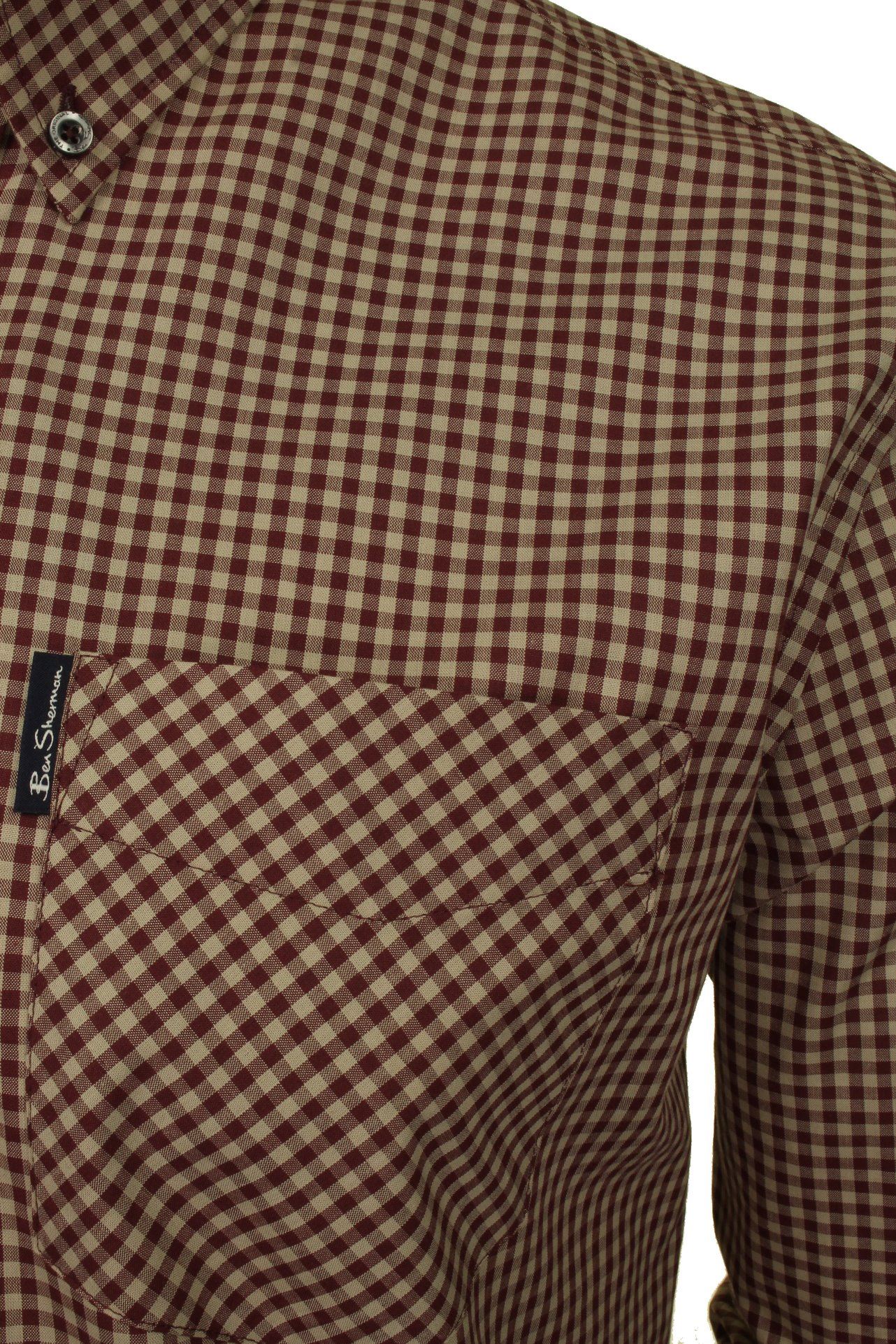 Ben-Sherman-Mens-Long-Sleeved-Gingham-Check-Shirt thumbnail 7