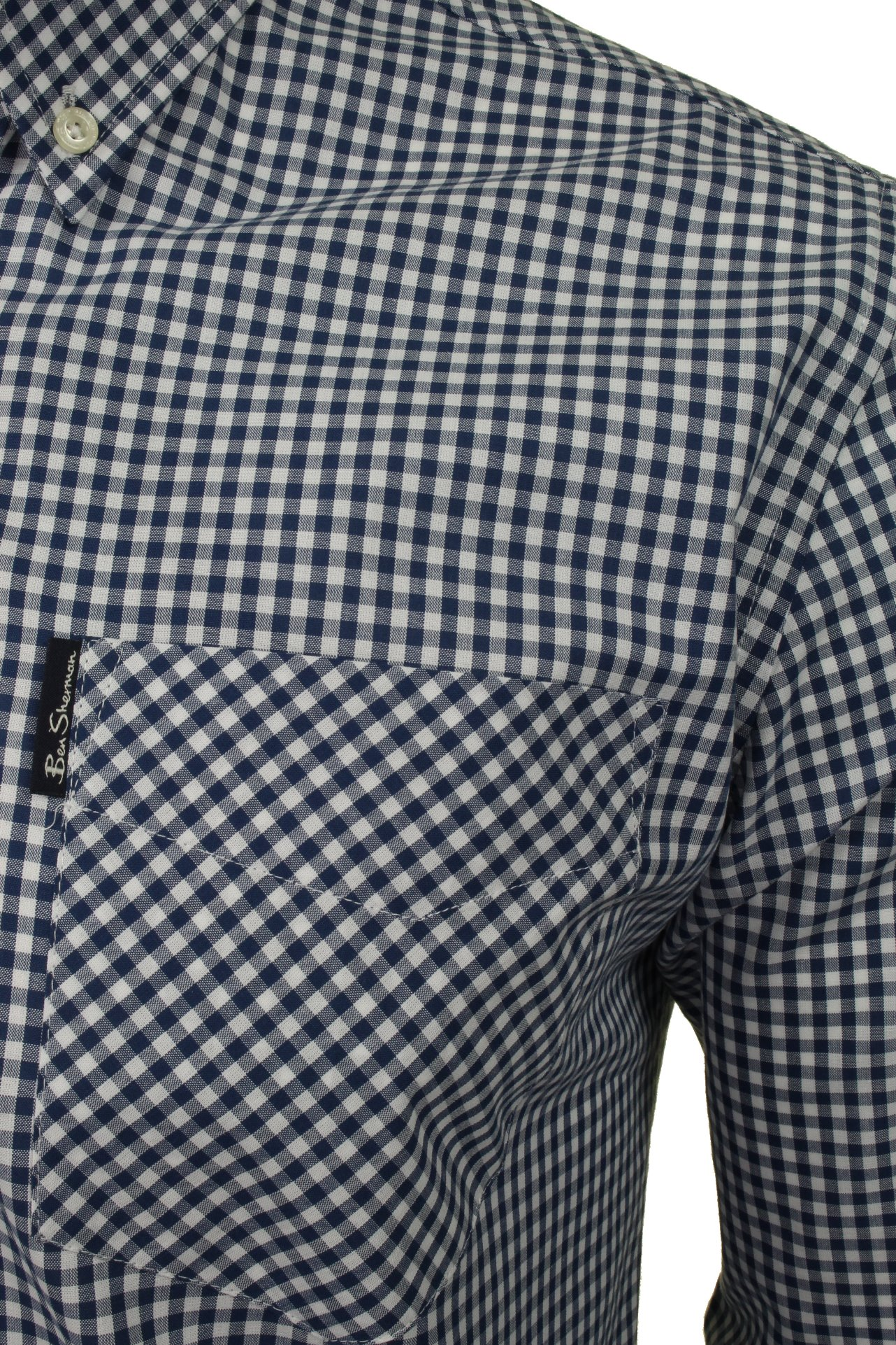 Ben-Sherman-Mens-Long-Sleeved-Gingham-Check-Shirt thumbnail 4