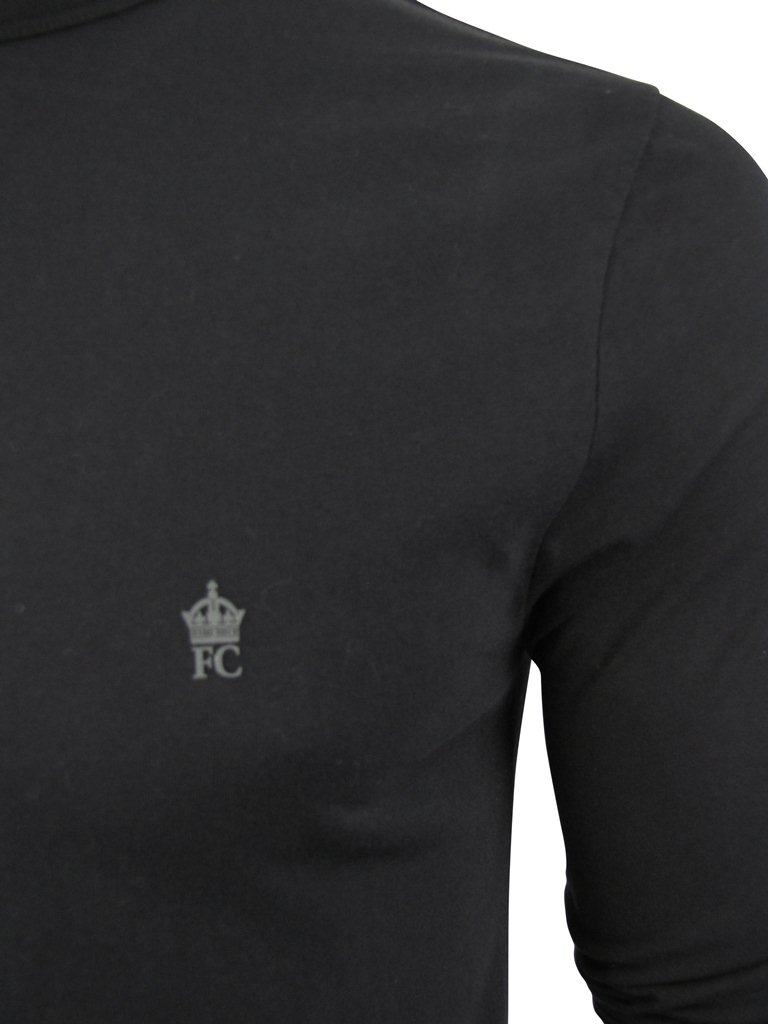 ab681e377de94 Mens T-Shirt By French Connection  FCUK Long Sleeved Crew Neck Chest ...