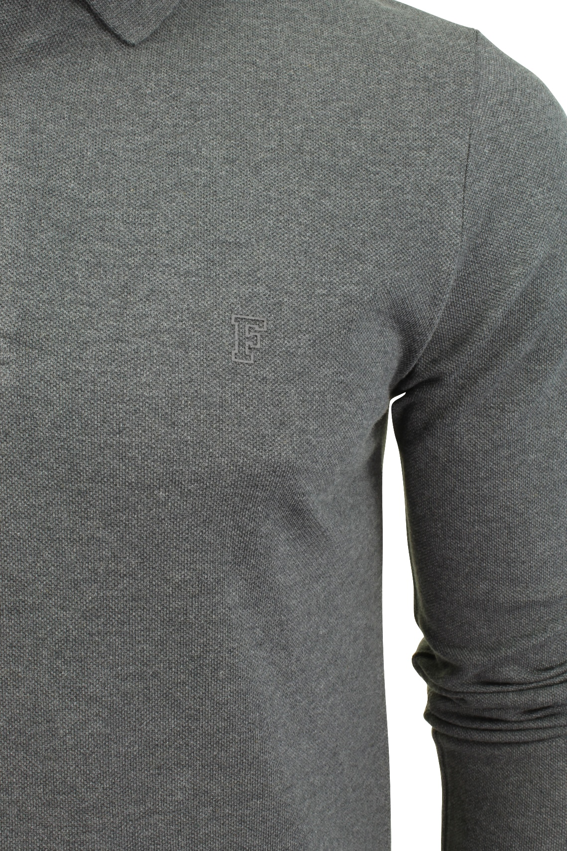 Mens-Polo-T-Shirt-by-FCUK-French-Connection-Long-Sleeved thumbnail 4