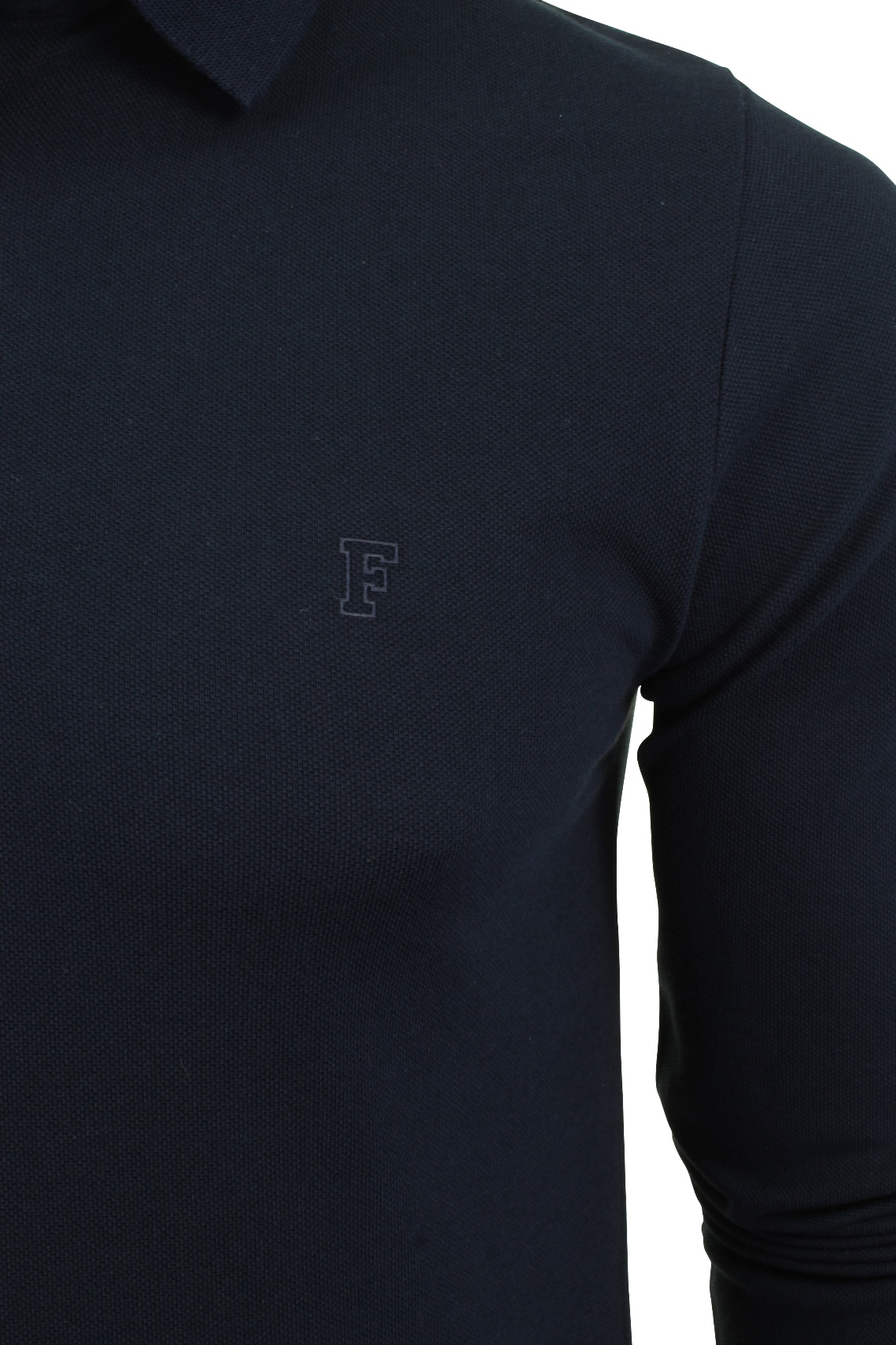 Mens-Polo-T-Shirt-by-FCUK-French-Connection-Long-Sleeved thumbnail 7