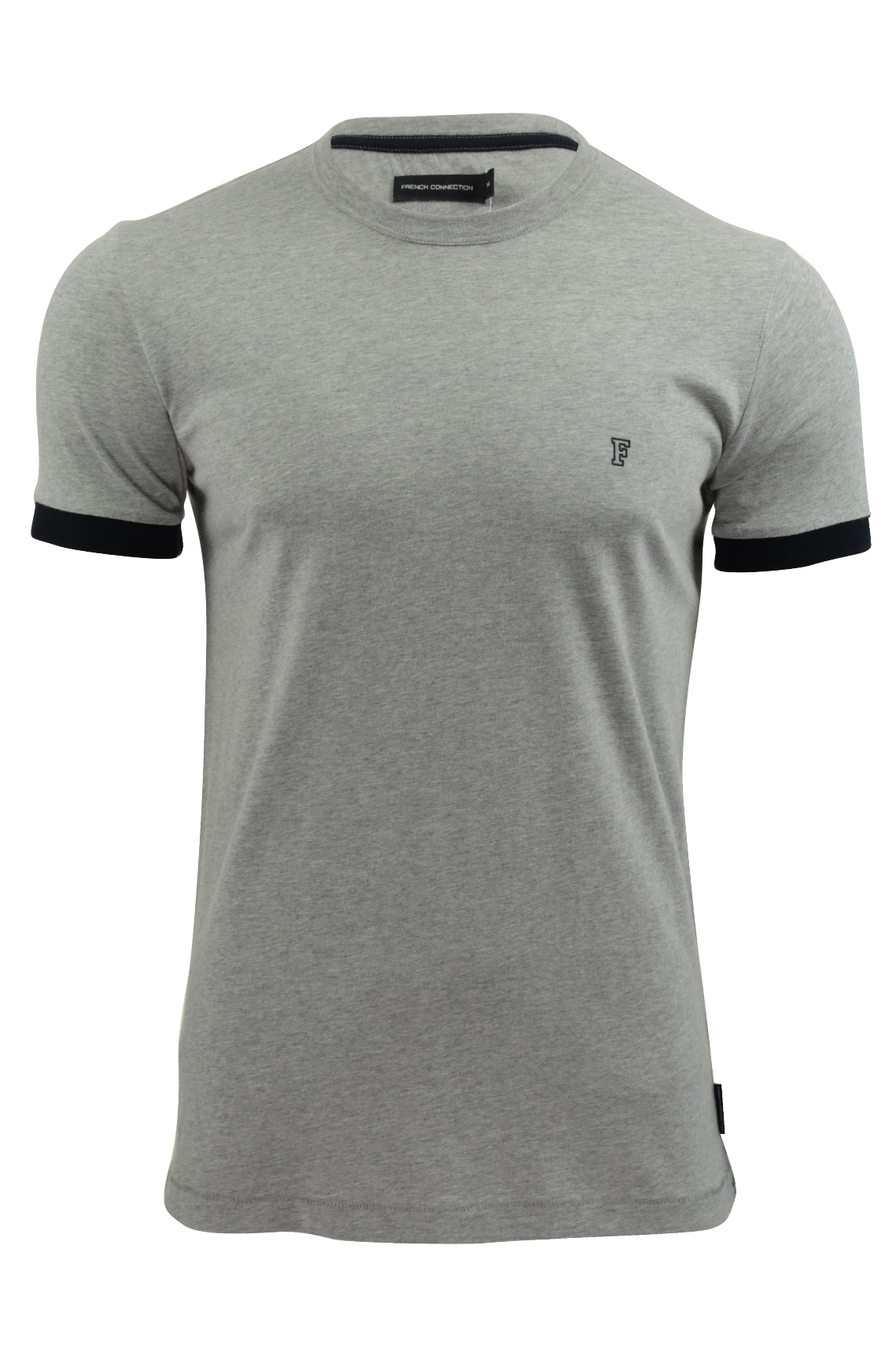 9f9caa996 Mens T-Shirt by FCUK/French Connection Summer Contrast Cuff   eBay