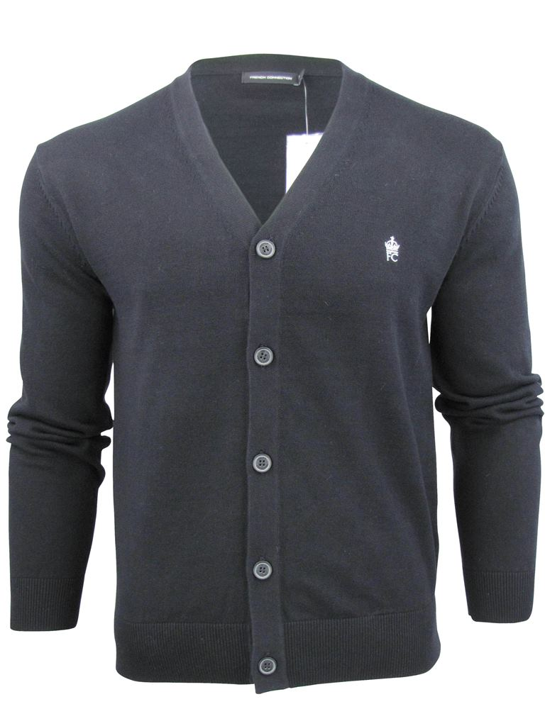 Mens French Connection FCUK Cotton Button Up Cardigan | eBay