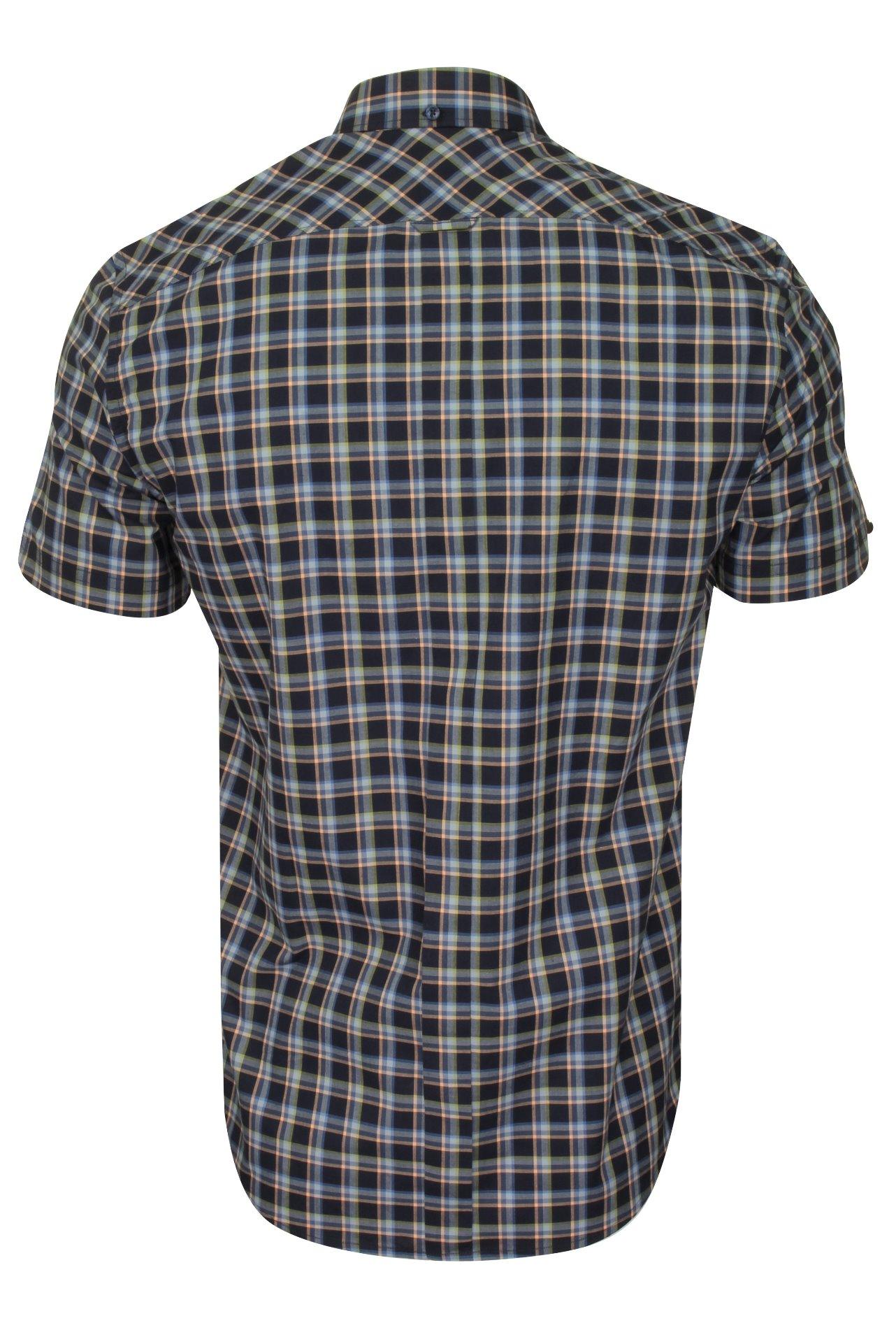 Ben-Sherman-Da-Uomo-Camicia-A-Maniche-Corte-Verificato miniatura 4