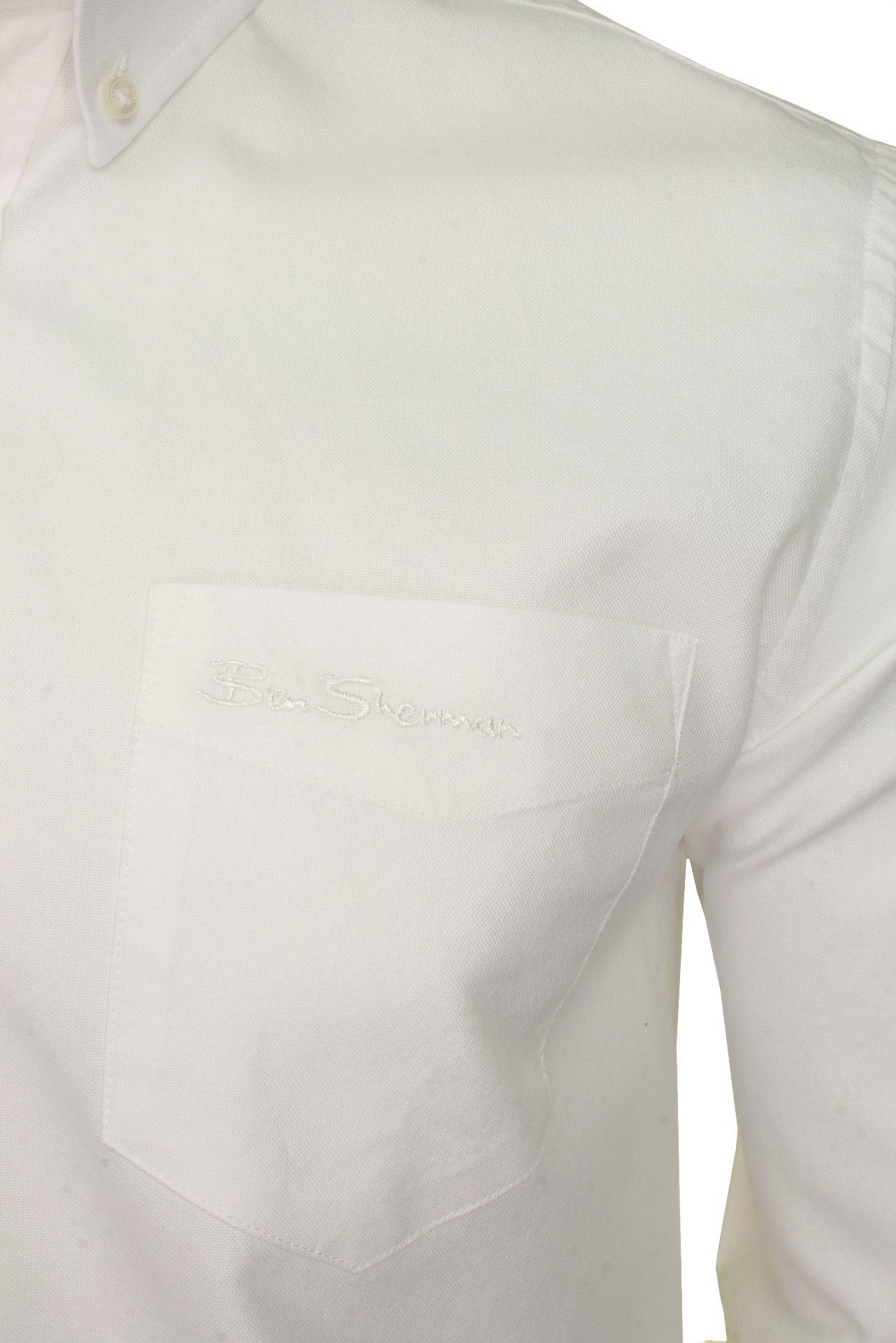 Mens-Oxford-Shirt-by-Ben-Sherman-Long-Sleeved thumbnail 44