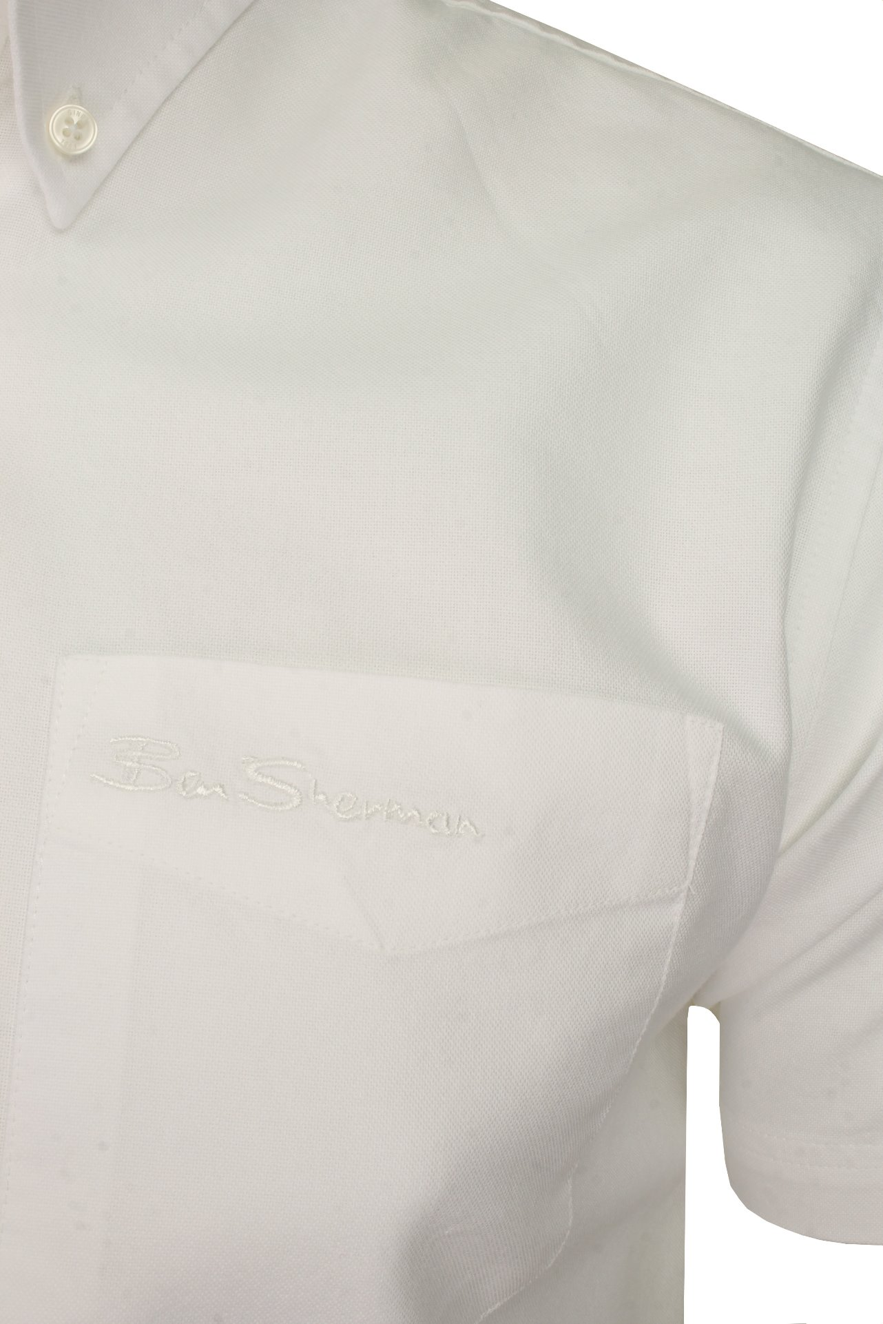 Ben-Sherman-Mens-Oxford-Shirt-Short-Sleeve thumbnail 45