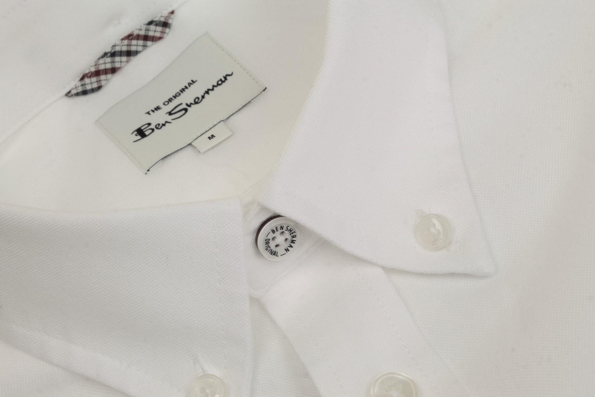 Ben-Sherman-Da-Uomo-Camicia-Oxford-Manica-Corta miniatura 47