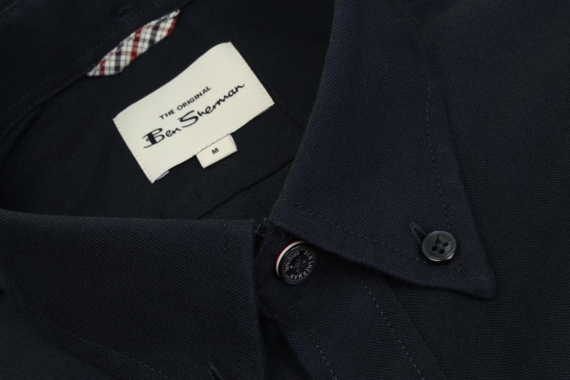 Ben-Sherman-Da-Uomo-Camicia-Oxford-Manica-Corta miniatura 19