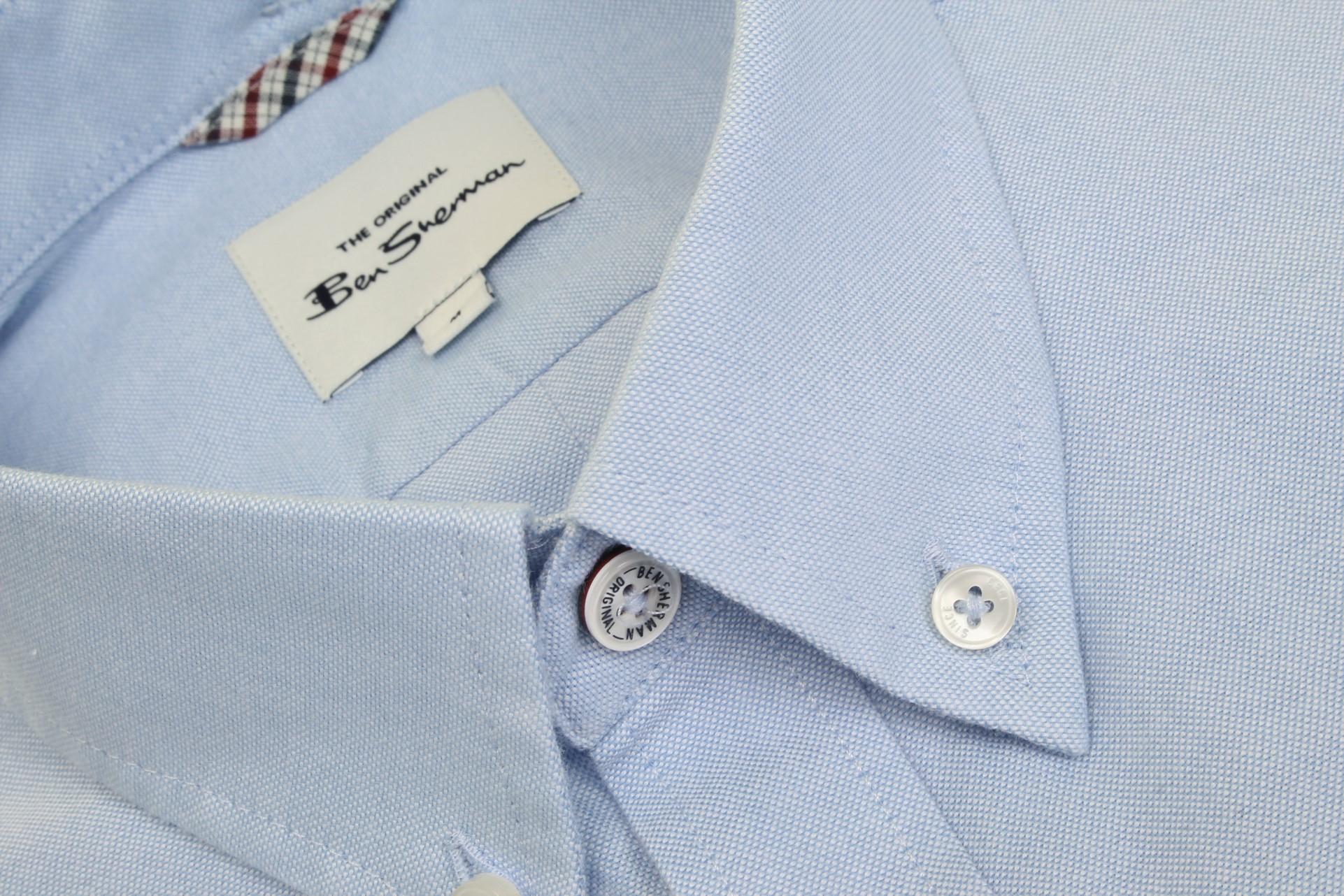 Ben-Sherman-Da-Uomo-Camicia-Oxford-Manica-Corta miniatura 36