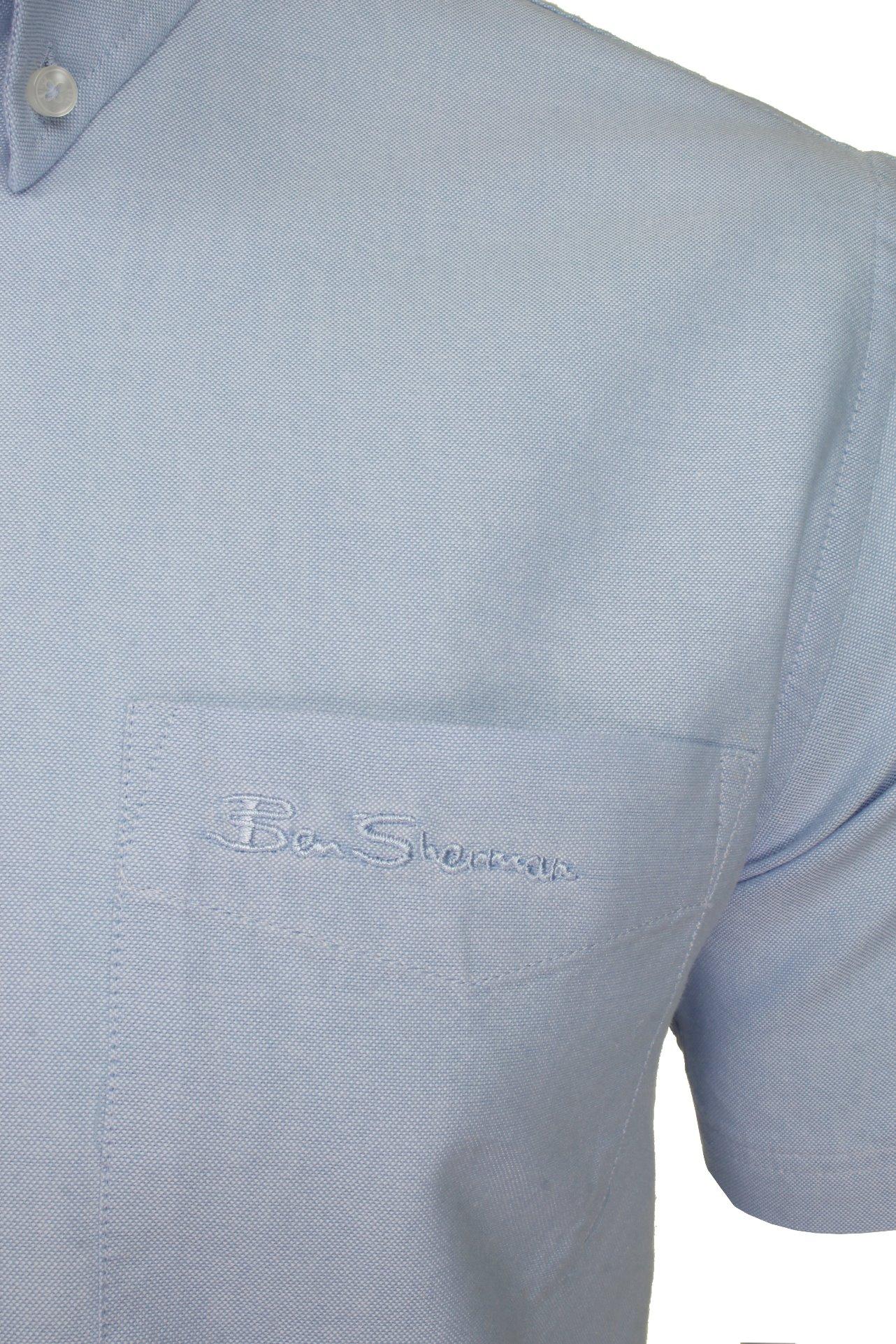 Ben-Sherman-Da-Uomo-Camicia-Oxford-Manica-Corta miniatura 34