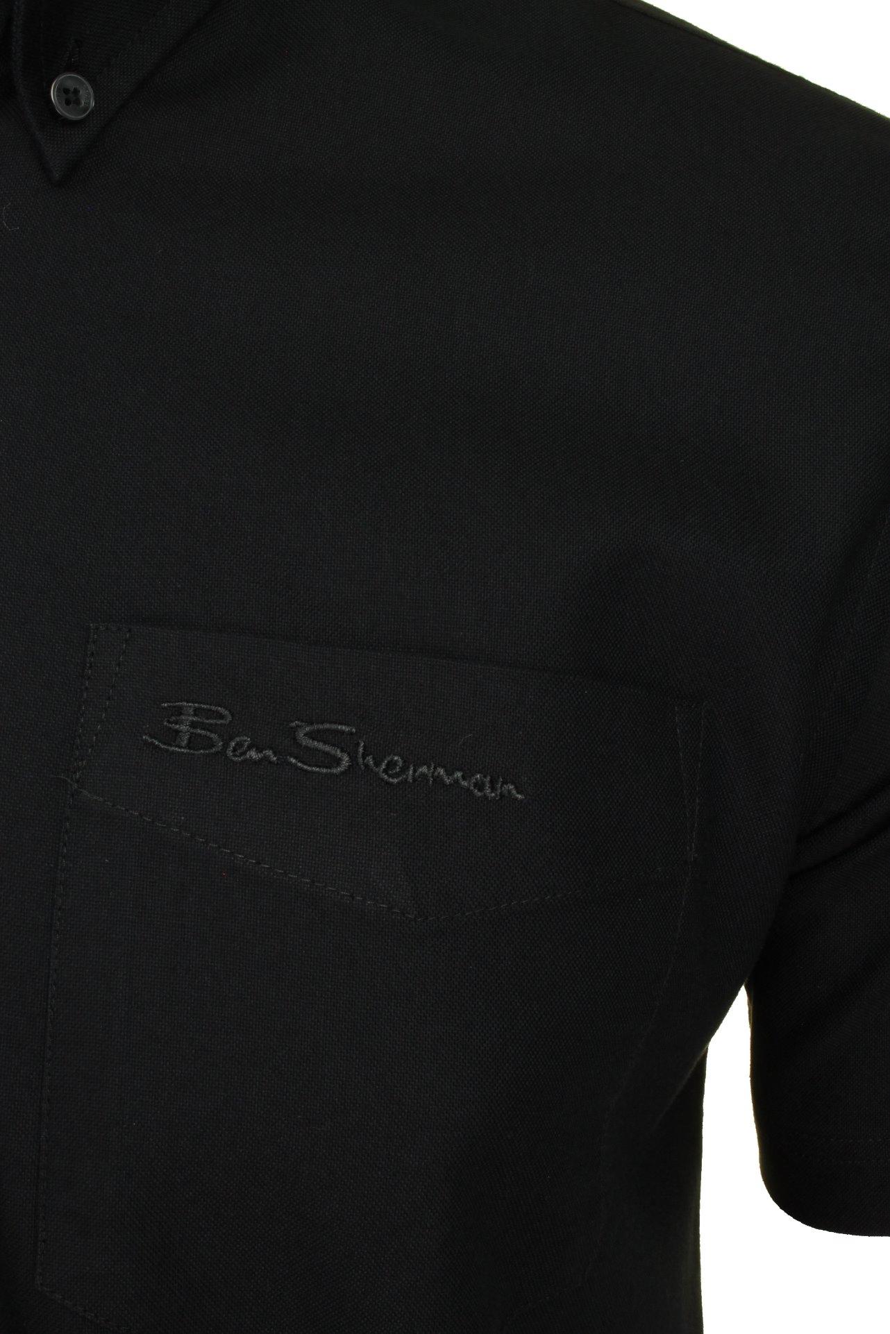 Ben-Sherman-Mens-Oxford-Shirt-Short-Sleeve thumbnail 7