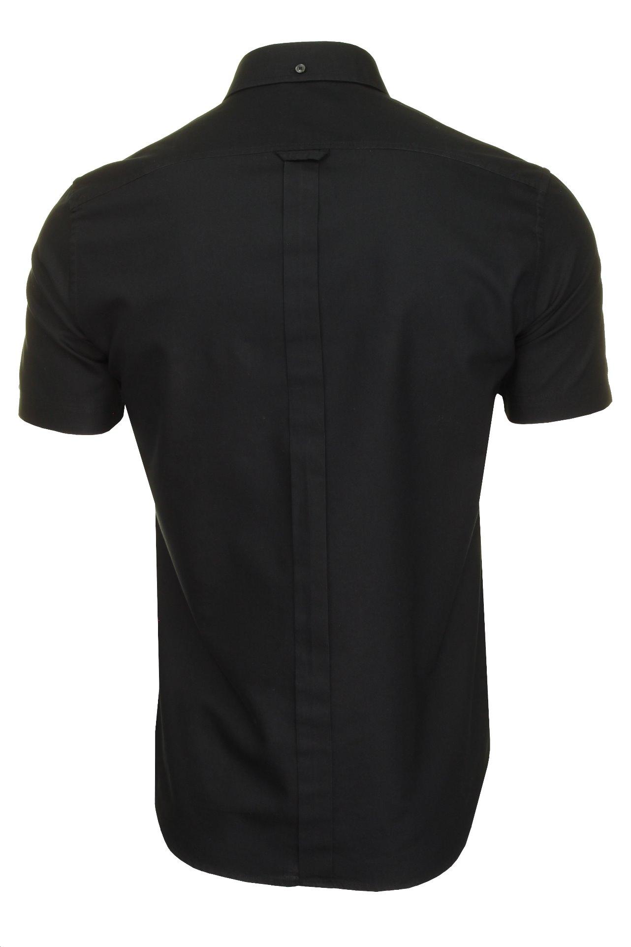 Ben-Sherman-Mens-Oxford-Shirt-Short-Sleeve thumbnail 8