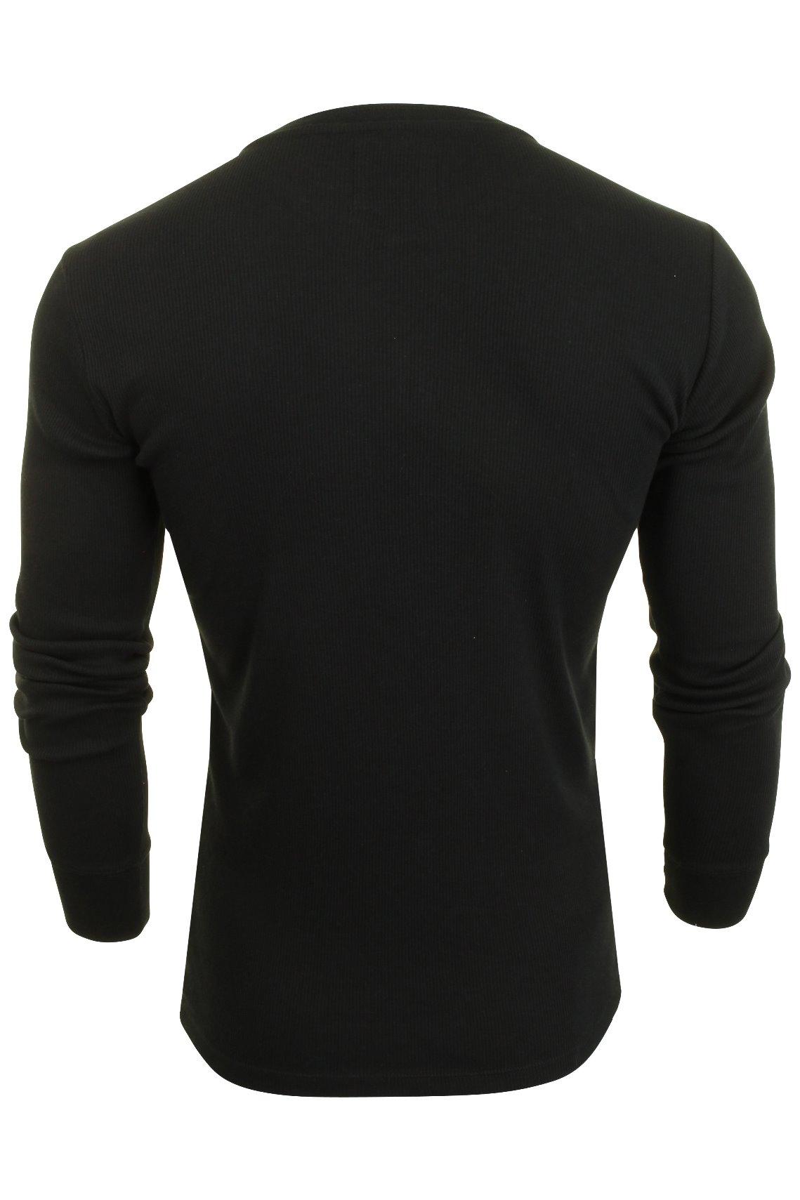 Levi-039-s-Homme-Grandad-039-300LS-Henley-039-Rib-T-shirt-a-manches-longues miniature 6