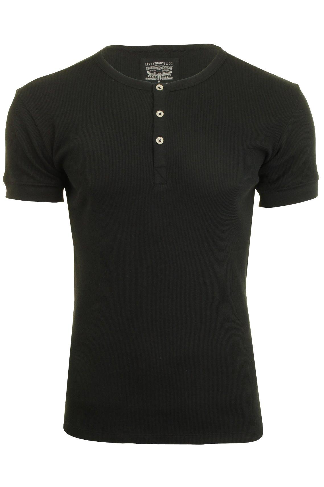 Levi-039-s-Mens-Grandad-039-300LS-Henley-039-Rib-T-Shirt
