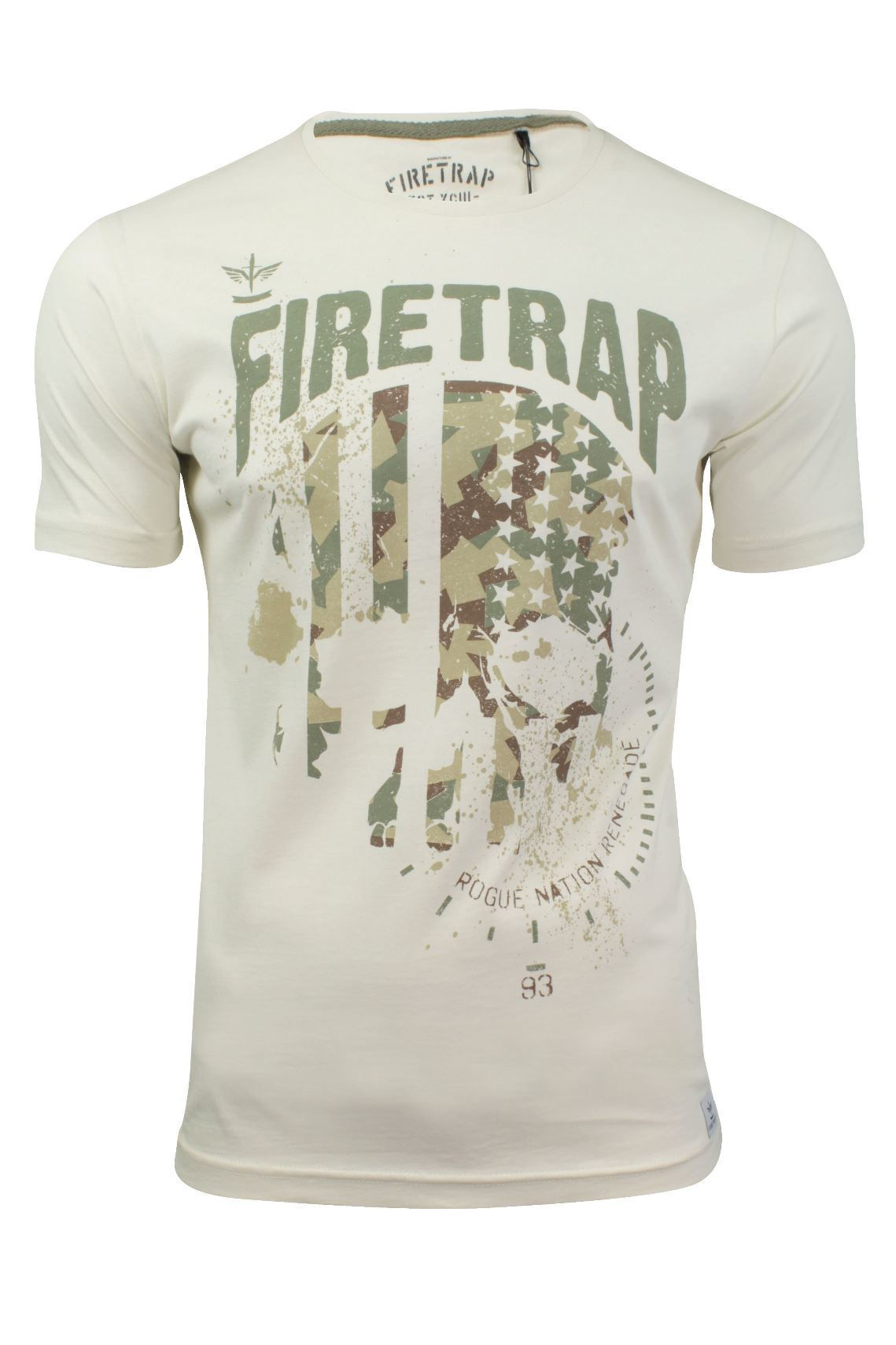 Mens-T-Shirt-by-Firetrap-039-Closson-039-Blackseal-Short-Sleeved