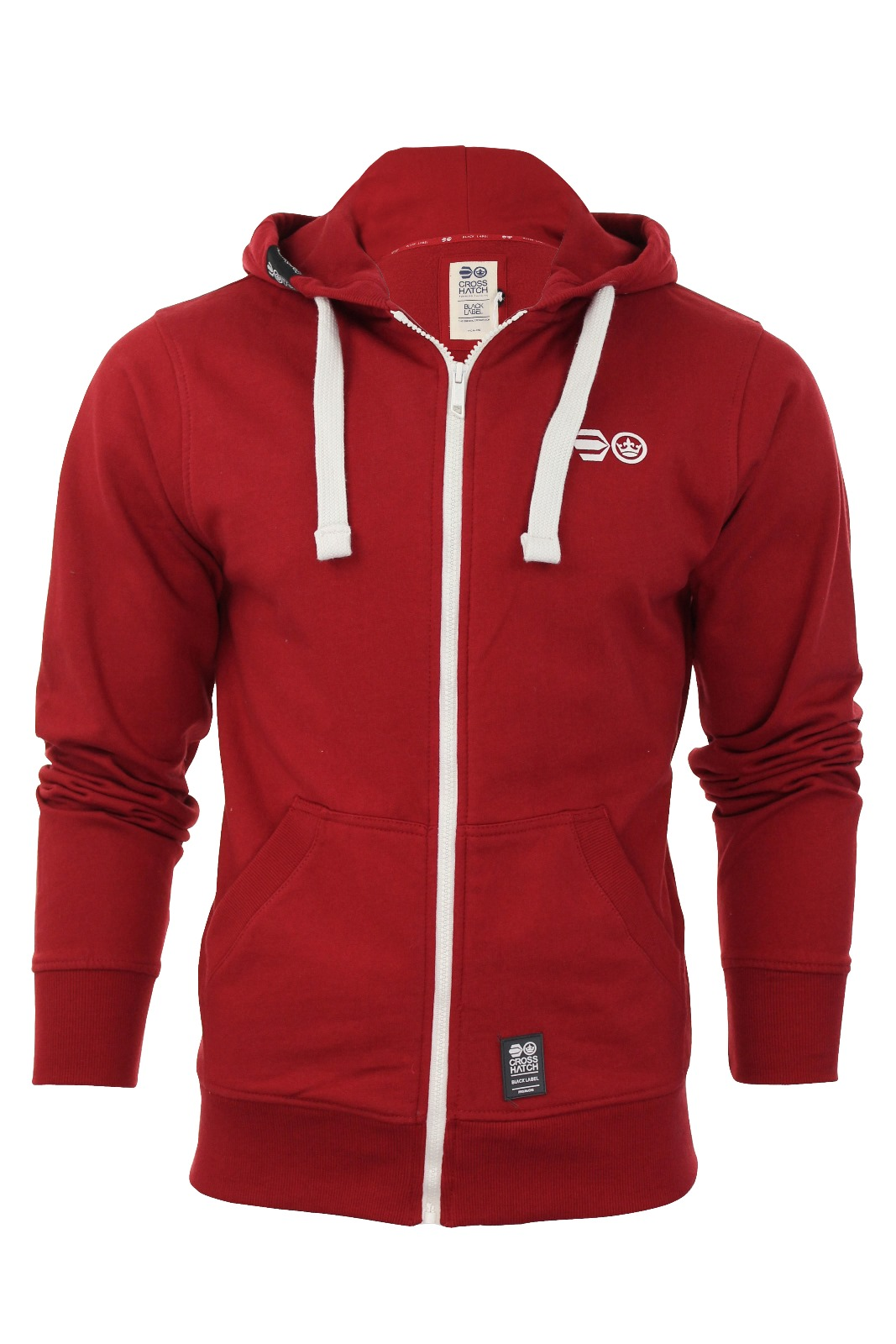 Mens Hoodie Jumper Sweater Zip Throw Crosshatch Gym Sweatshirt ...
