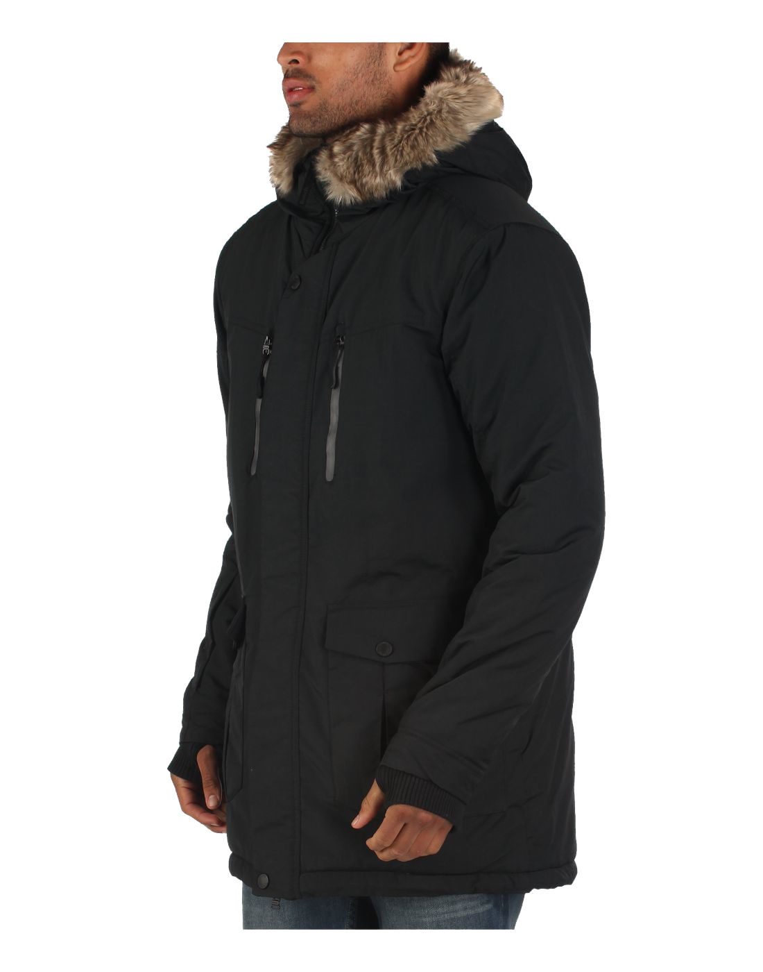 Mens Parka Hoodie Jacket Bench 'Nomen' Coat Water ...