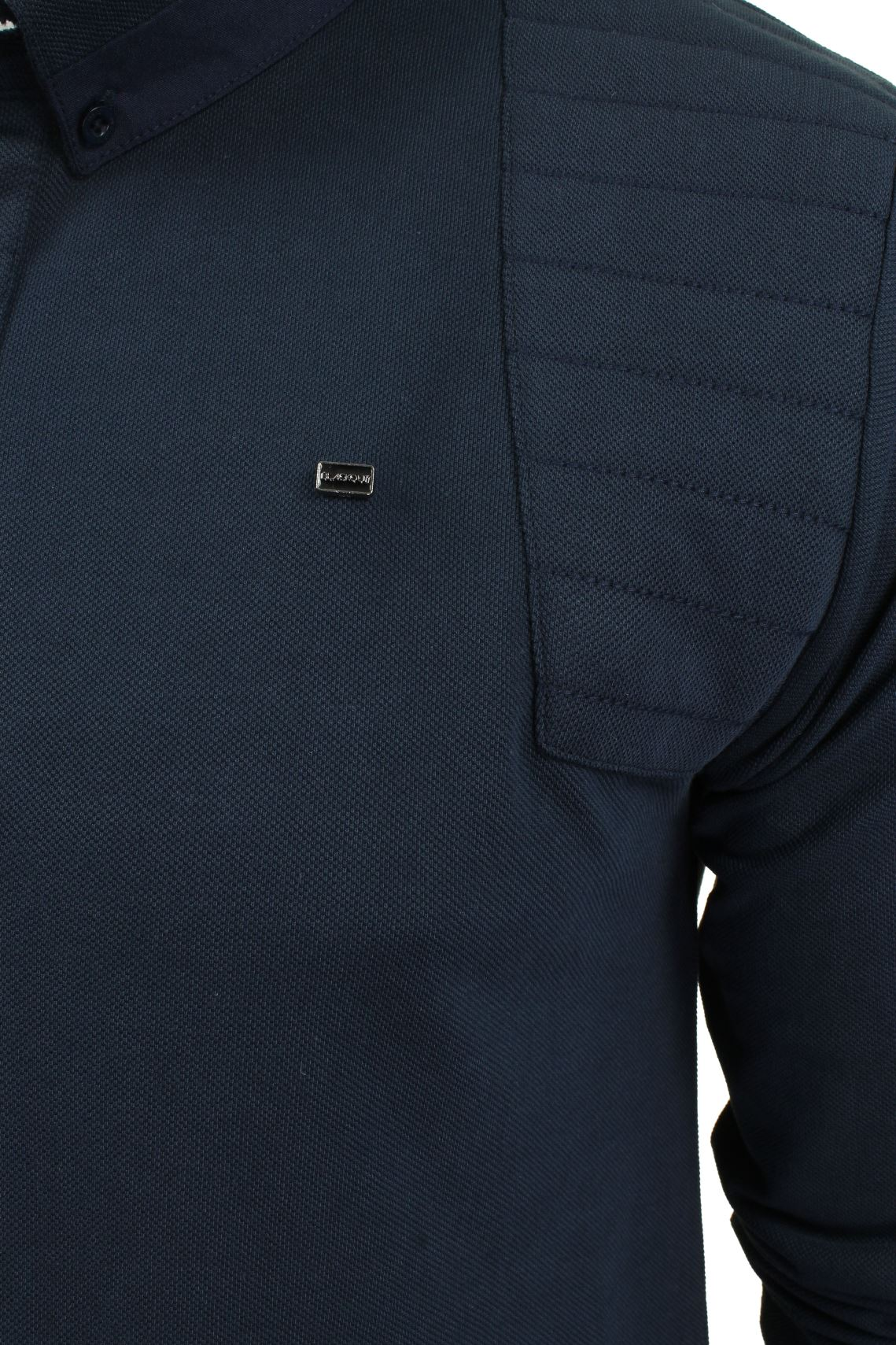 Mens-Short-Sleeved-Polo-Shirt-from-the-Blackout-Collection-by-Voi-Jeans thumbnail 3