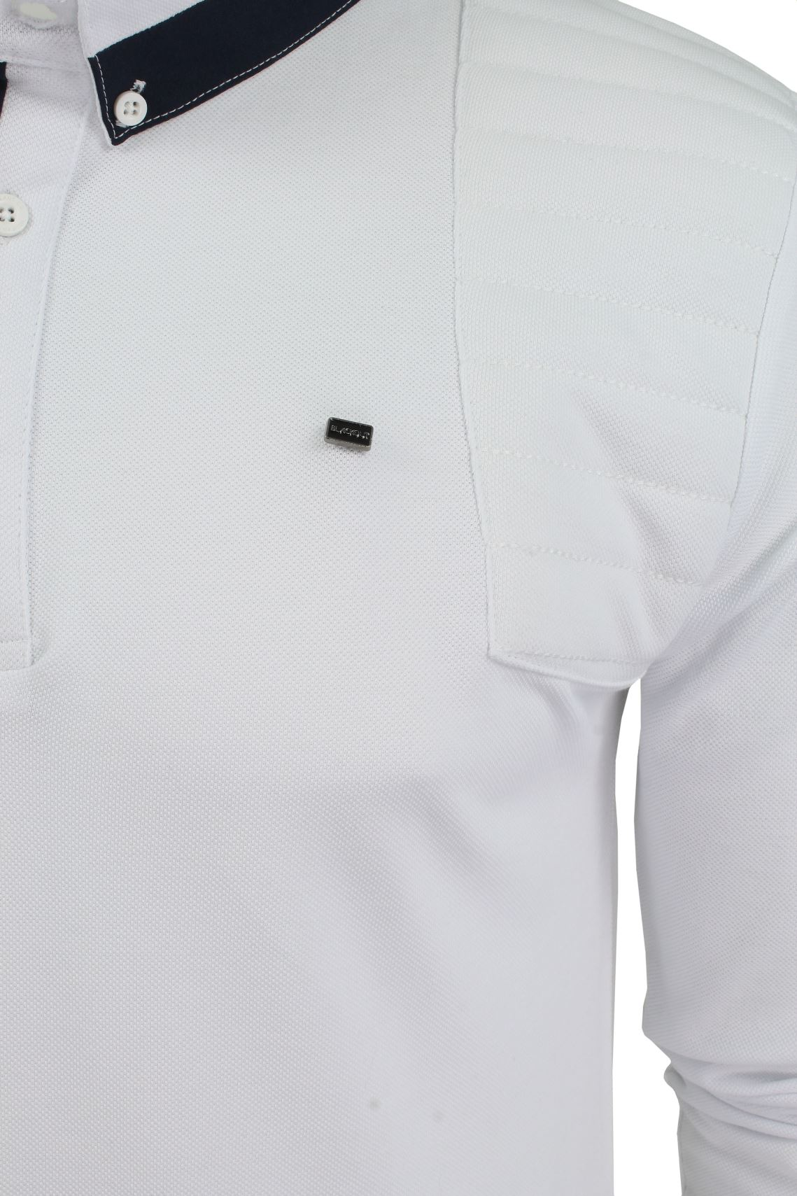 Mens-Short-Sleeved-Polo-Shirt-from-the-Blackout-Collection-by-Voi-Jeans thumbnail 6