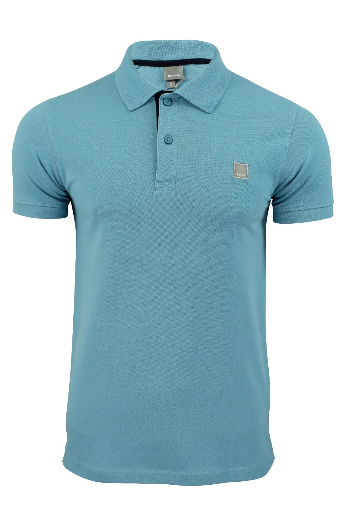 Mens polo shirt by bench 39 crystalline b 39 stretch pique for Stretch polo shirt mens