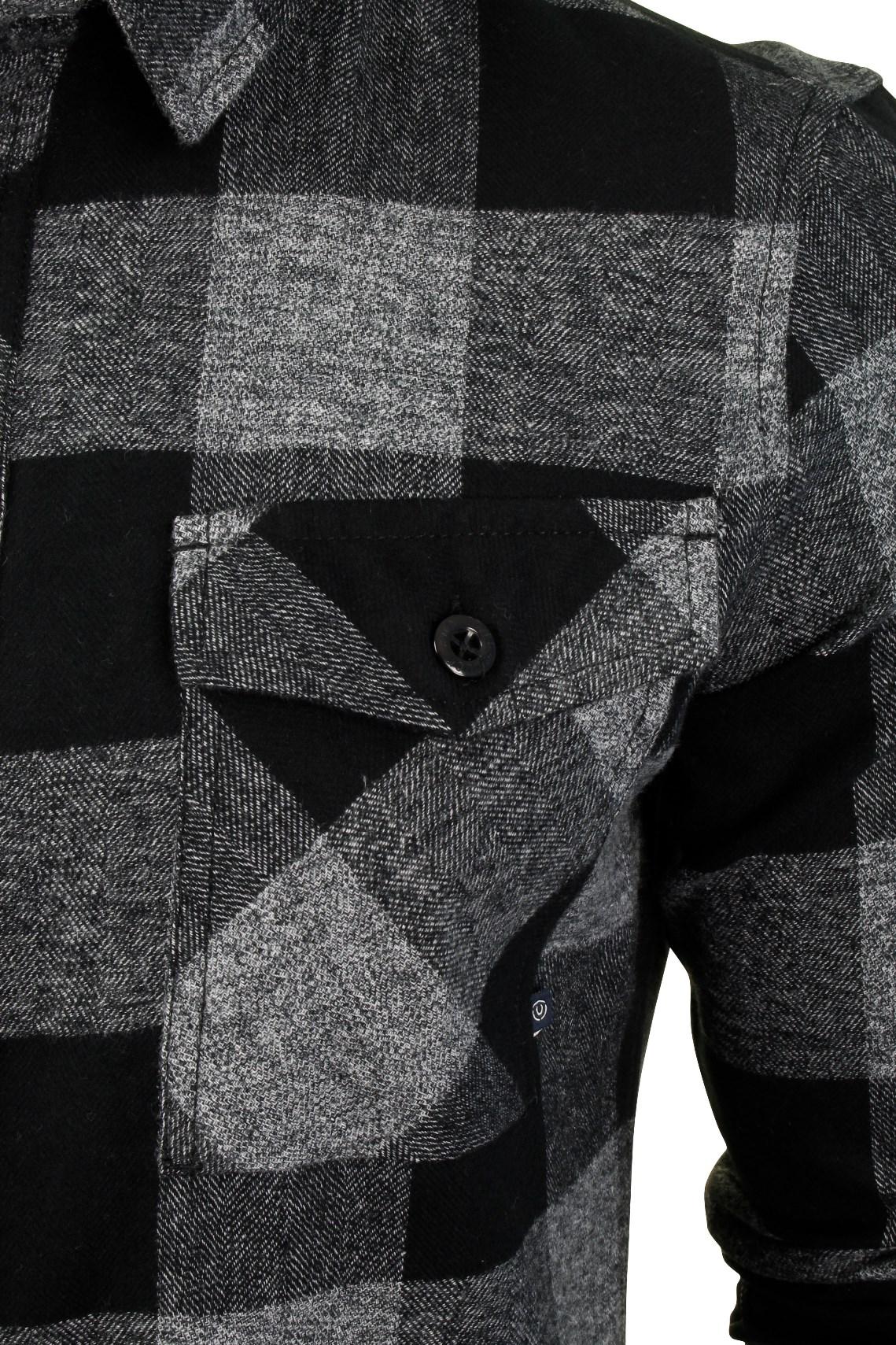 Para-Hombre-Franela-compruebe-Camisa-por-Pato-Y-Cubierta-039-Chapman-039 miniatura 4