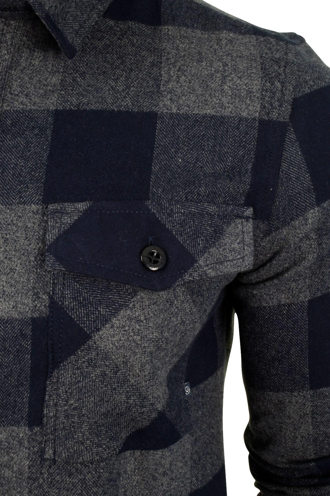 Para-Hombre-Franela-compruebe-Camisa-por-Pato-Y-Cubierta-039-Chapman-039 miniatura 7