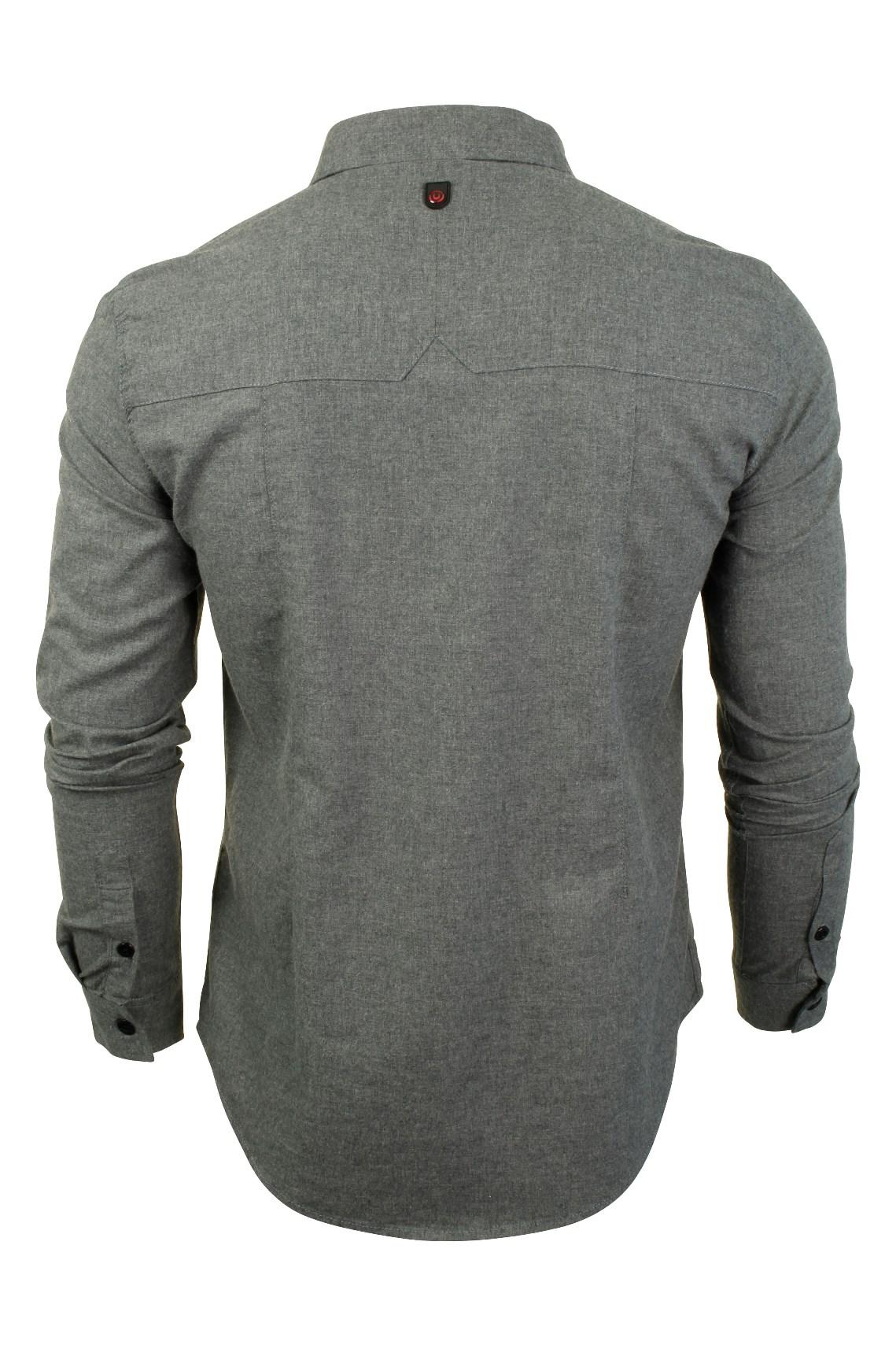 Para-Hombre-Franela-Camisa-por-Pato-Y-Cubierta-039-Katlego-039-Manga-Larga miniatura 8