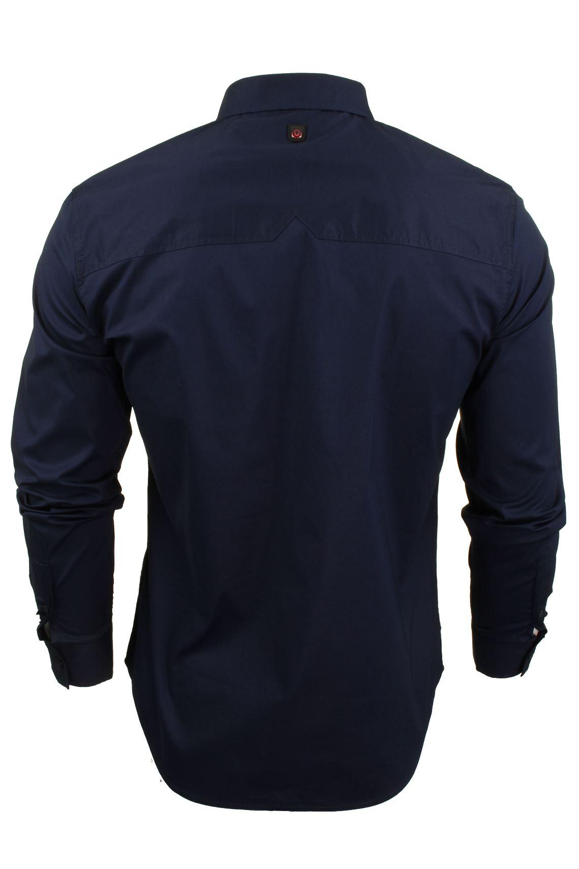 Para-Hombres-Camisa-Manga-Larga-Popelin-del-estiramiento-por-Pato-Y-Cubierta-039-raginald-039 miniatura 8