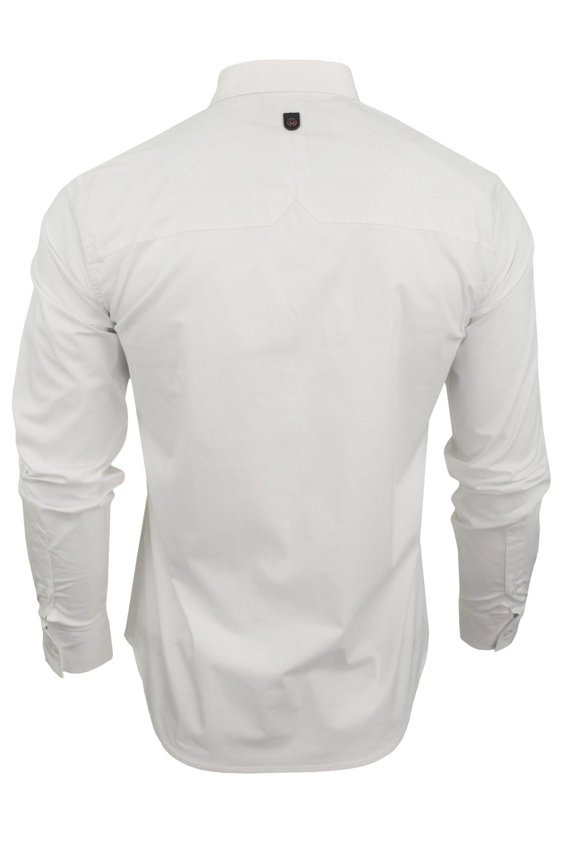 Para-Hombres-Camisa-Manga-Larga-Popelin-del-estiramiento-por-Pato-Y-Cubierta-039-raginald-039 miniatura 11
