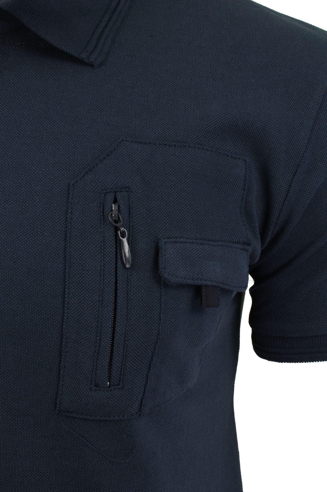 Mens-Short-Sleeved-Polo-Shirt-from-the-Blackout-Collection-by-Voi-Jeans thumbnail 9