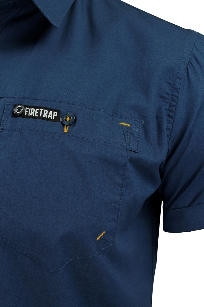 Mens-Short-Sleeved-Shirt-by-Firetrap thumbnail 11