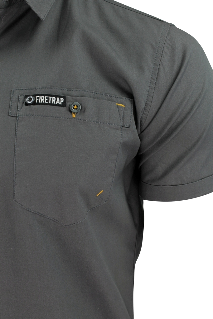 Mens-Short-Sleeved-Shirt-by-Firetrap thumbnail 14