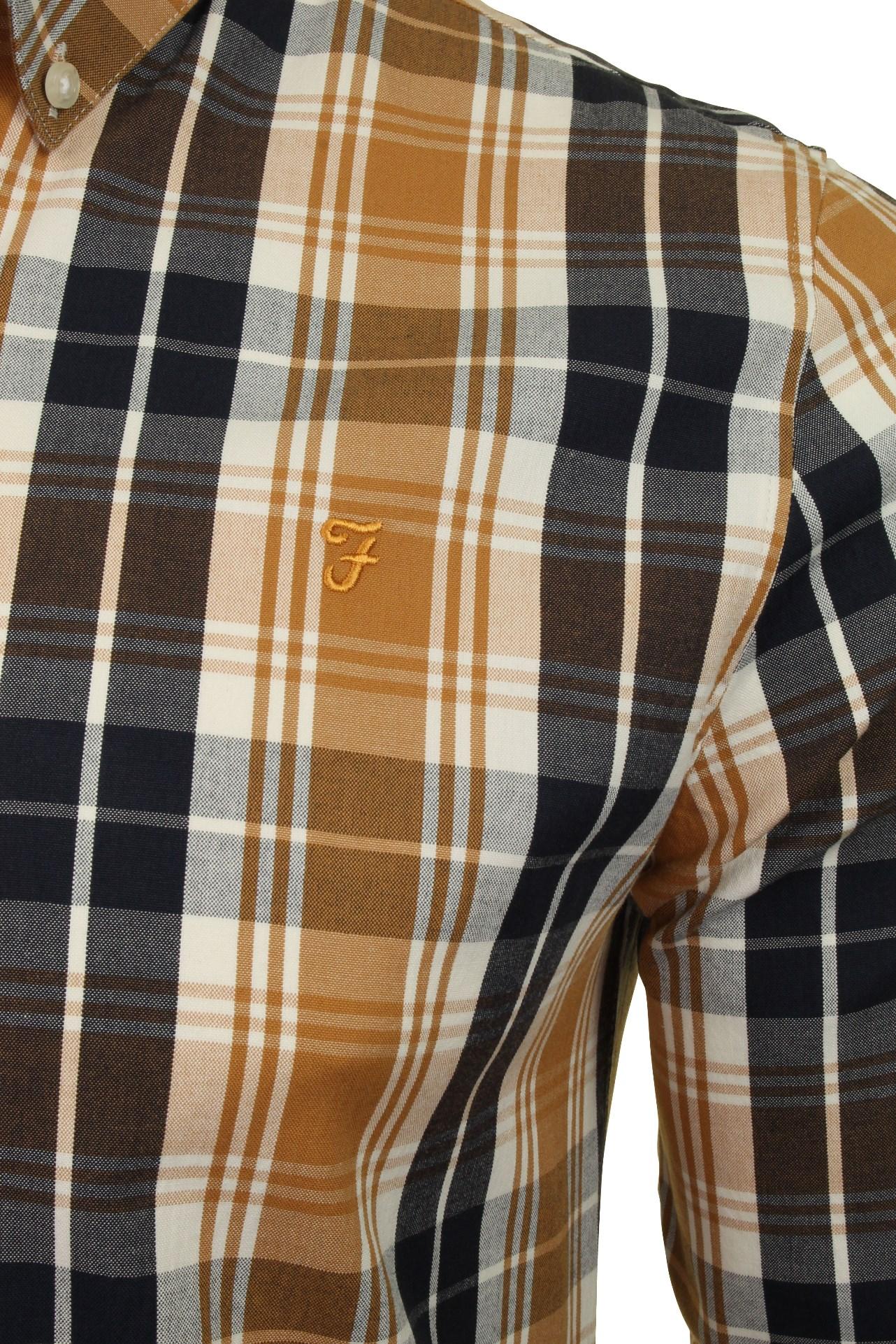 Farah-Mens-Check-Shirt-039-Brewer-Blackwatch-039-Long-Sleeved thumbnail 13