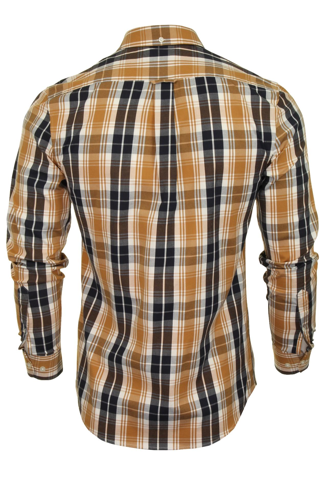 Farah-Mens-Check-Shirt-039-Brewer-Blackwatch-039-Long-Sleeved thumbnail 14