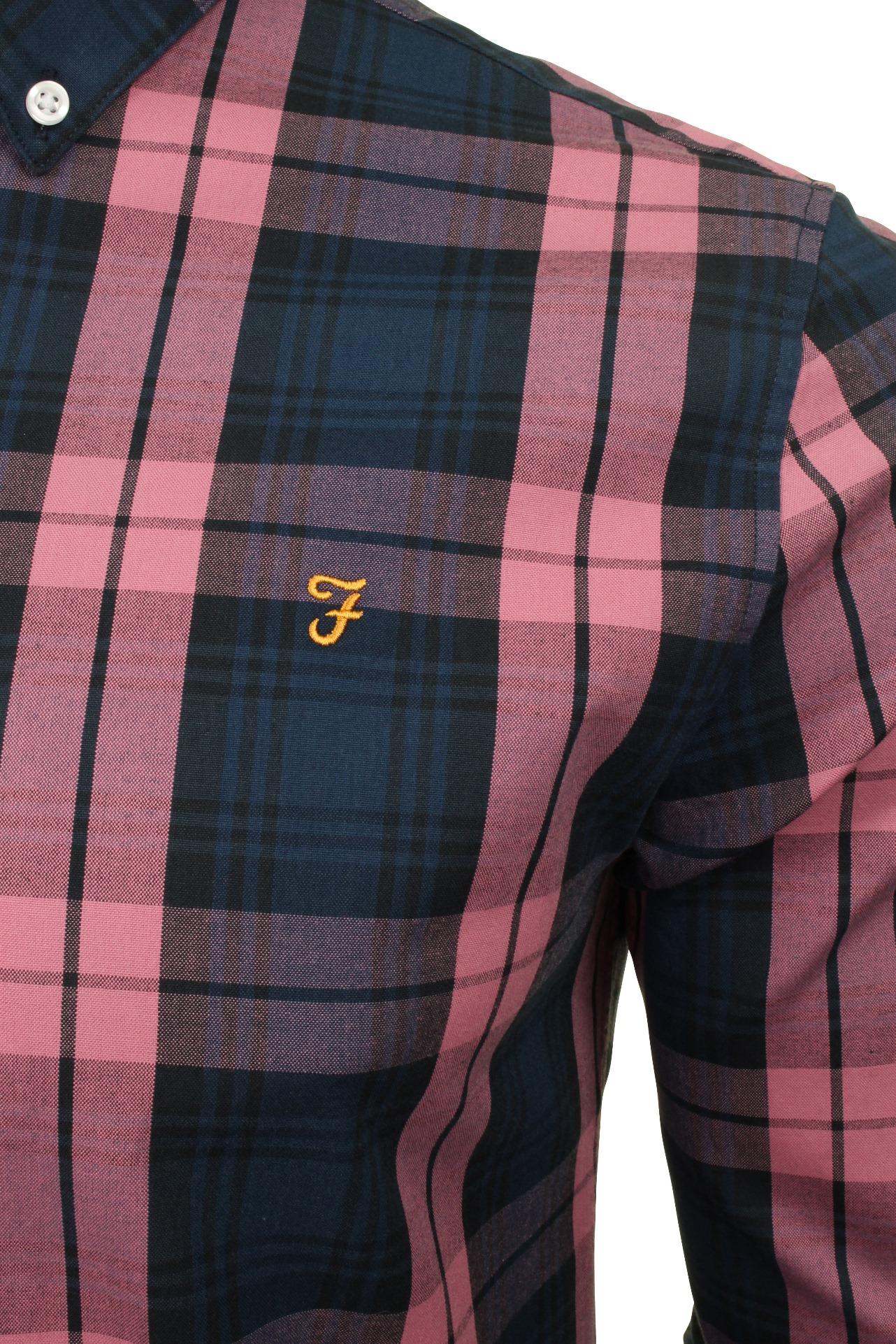 Farah-Mens-Check-Shirt-039-Brewer-Blackwatch-039-Long-Sleeved thumbnail 4