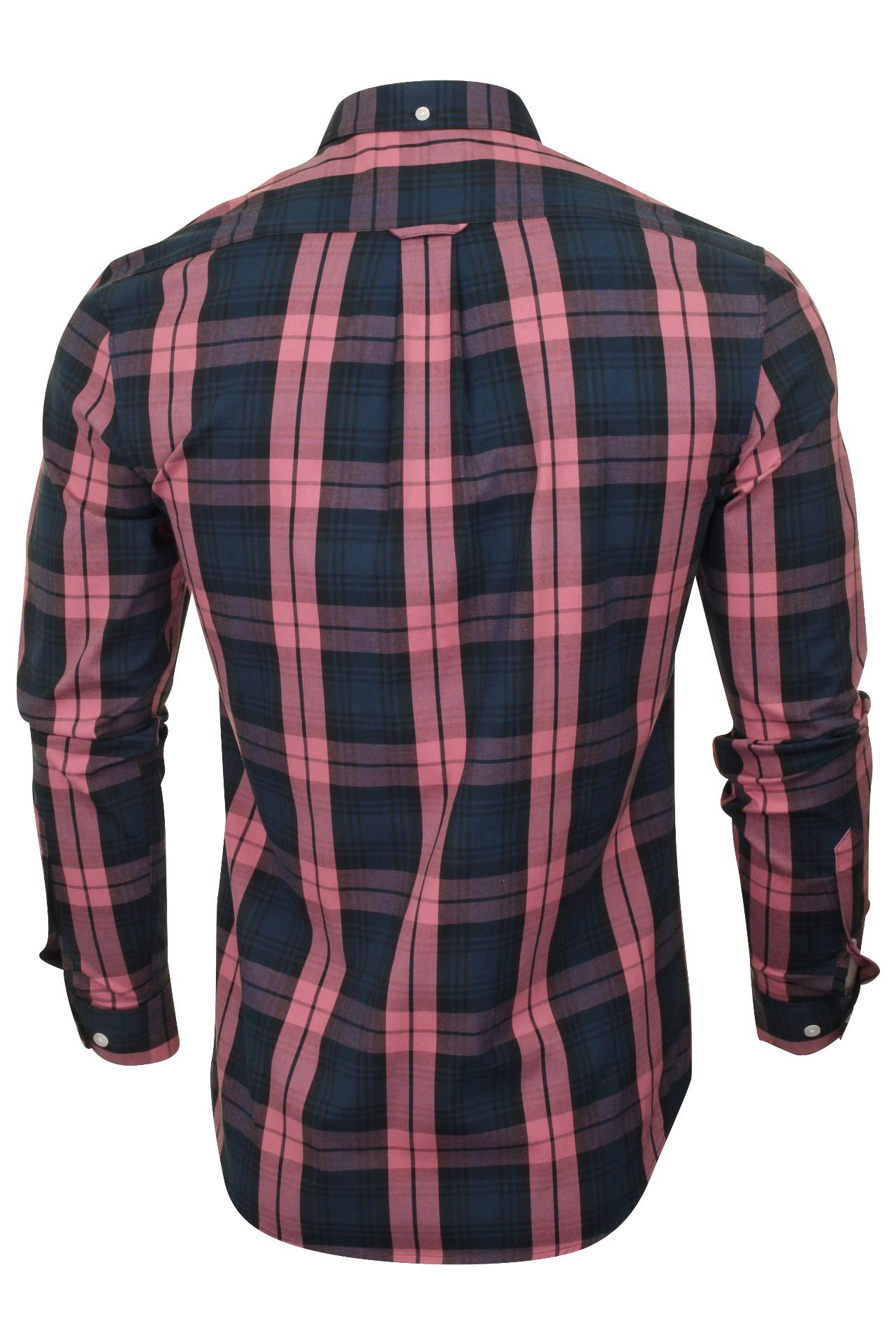 Farah-Mens-Check-Shirt-039-Brewer-Blackwatch-039-Long-Sleeved thumbnail 5