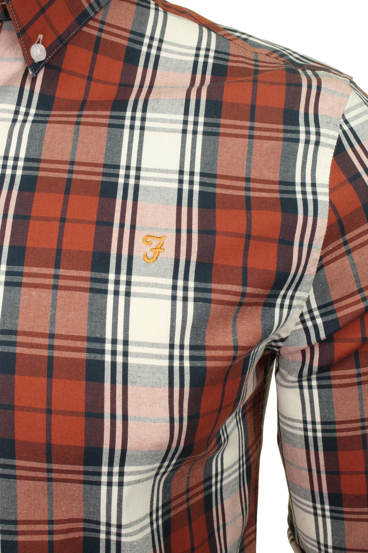 Farah-Mens-Check-Shirt-039-Brewer-Blackwatch-039-Long-Sleeved thumbnail 16