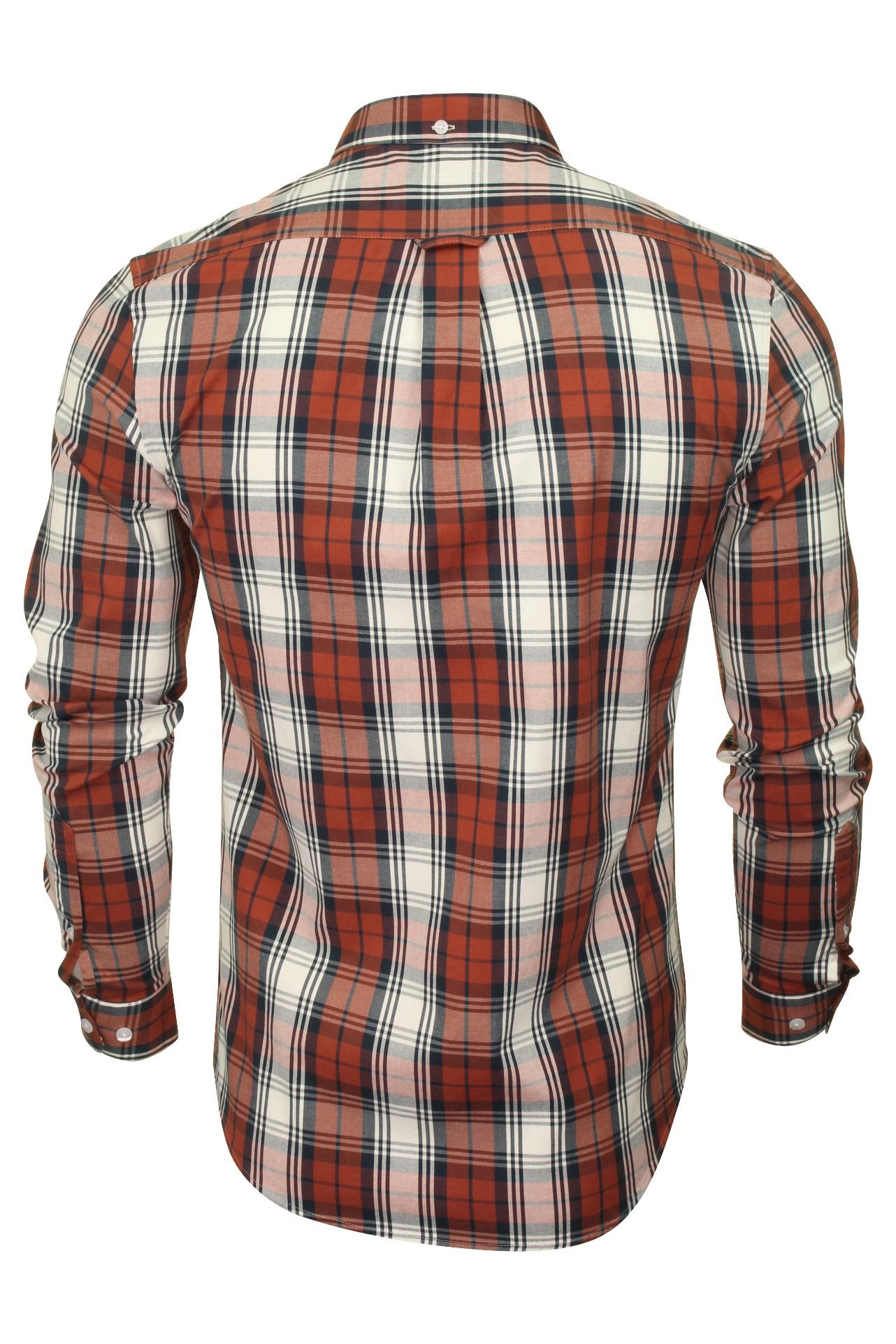 Farah-Mens-Check-Shirt-039-Brewer-Blackwatch-039-Long-Sleeved thumbnail 17