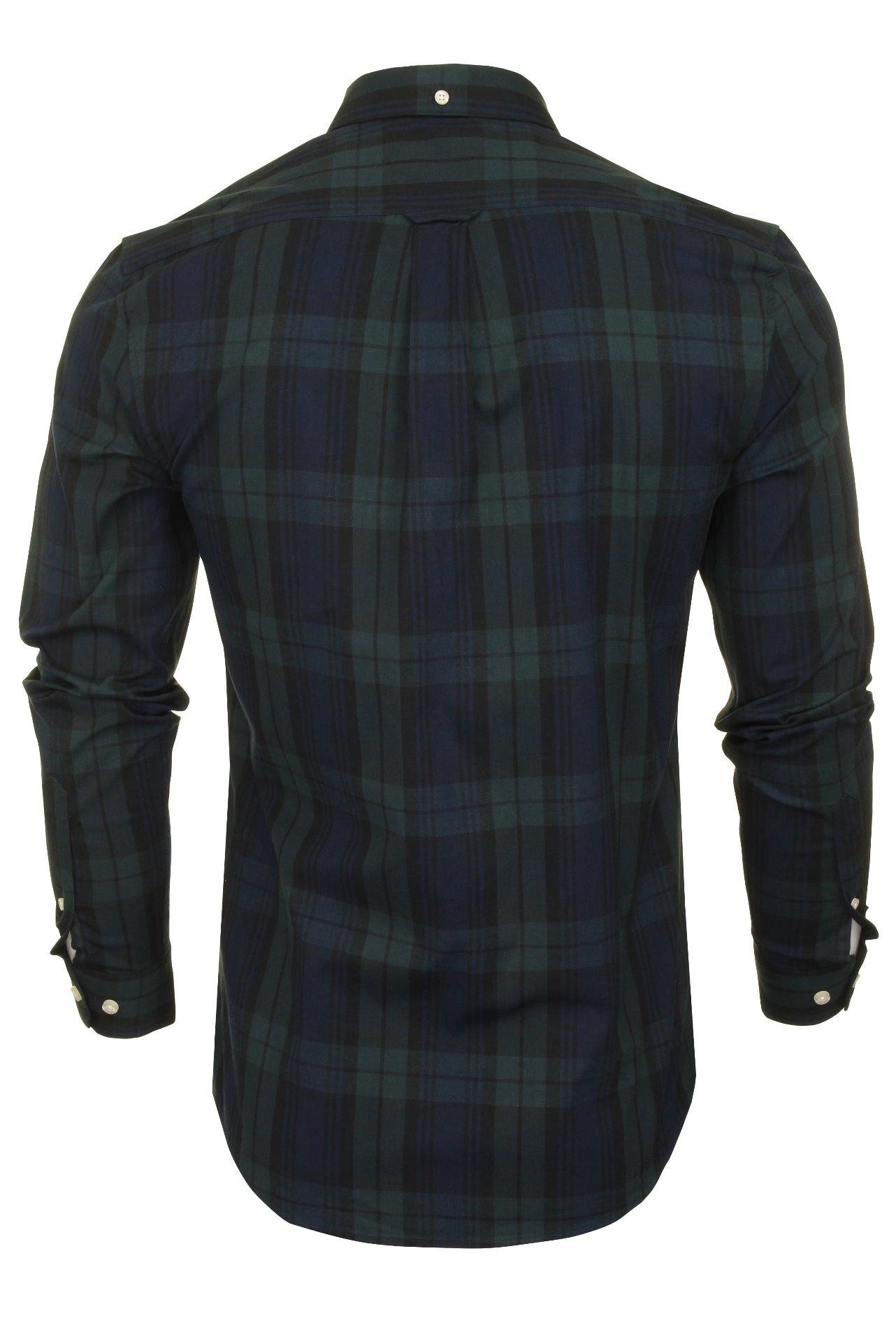 Farah-Mens-Check-Shirt-039-Brewer-Blackwatch-039-Long-Sleeved thumbnail 11