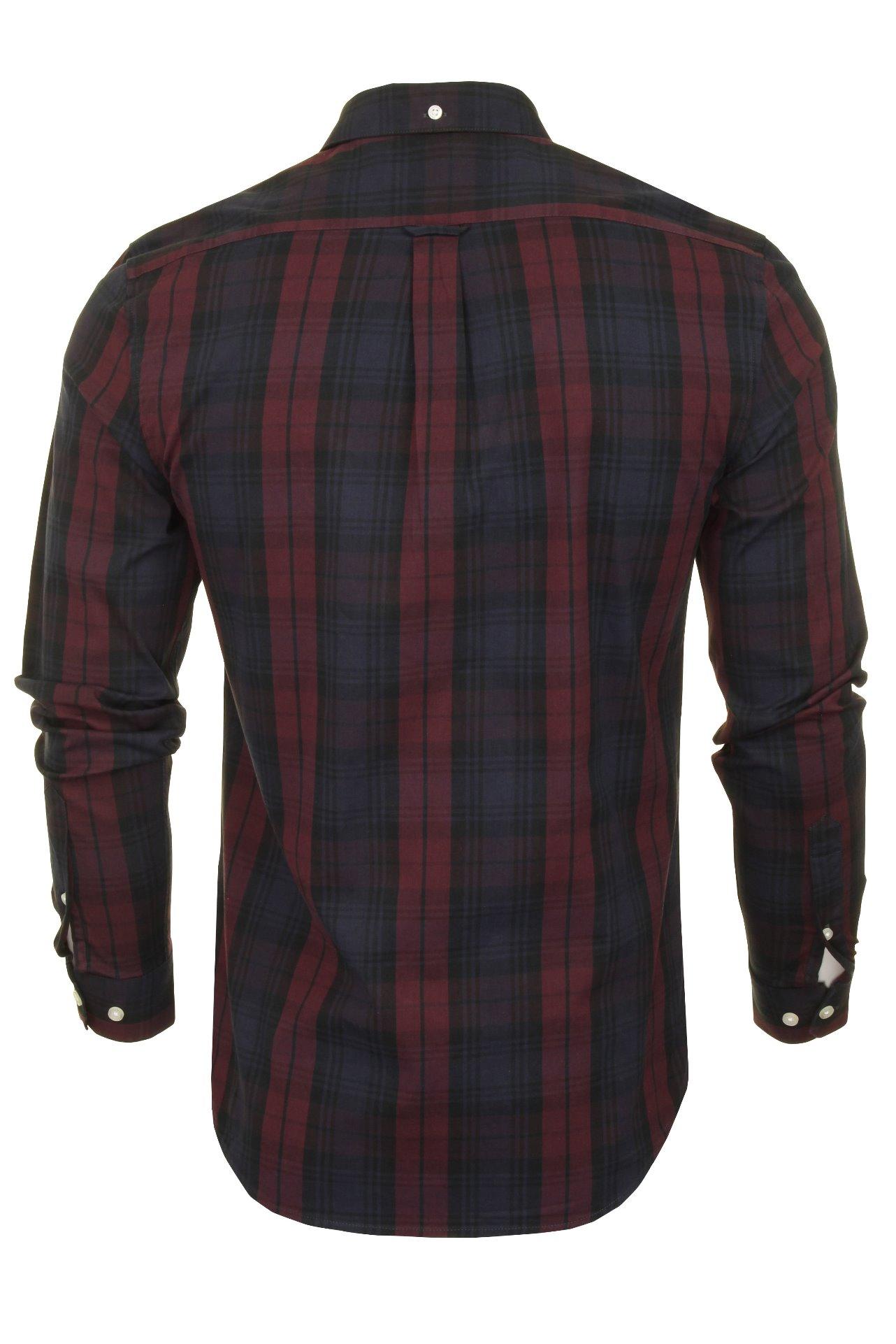 Farah-Mens-Check-Shirt-039-Brewer-Blackwatch-039-Long-Sleeved thumbnail 8